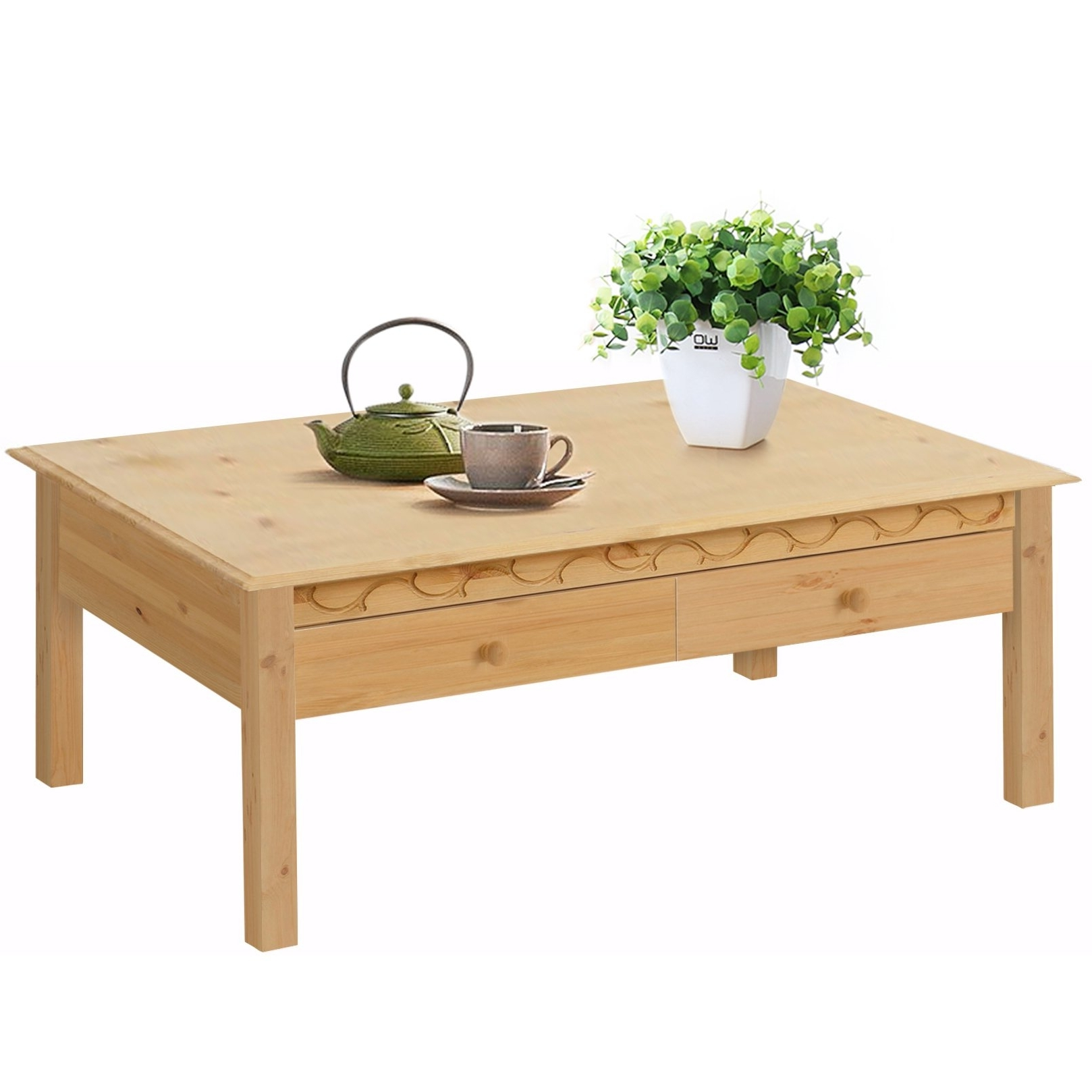 Newest Natural Pine Coffee Tables Intended For Lando 1 Drawer Coffee Table, Solid Pine, Natural – Free Shipping (View 10 of 20)