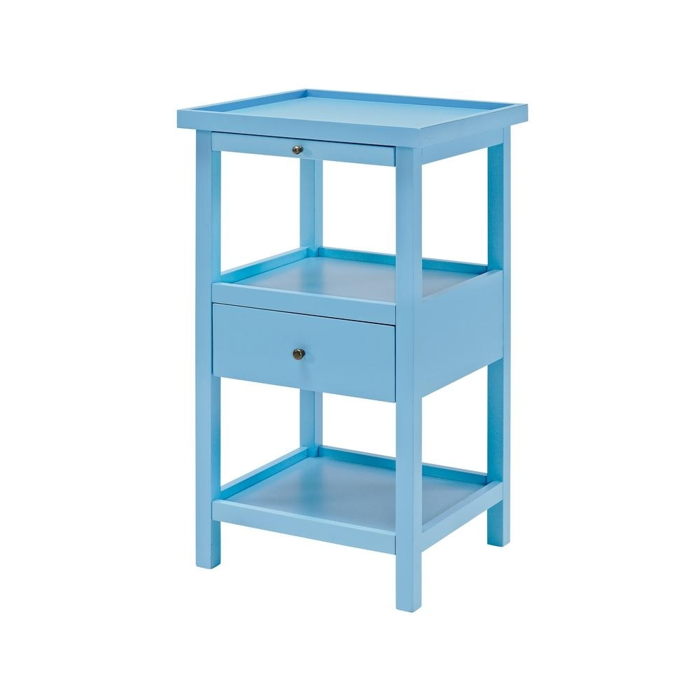 Newest Palmer Storage Cocktail Tables Regarding Powell Palmer Ocean Blue Table With Shelf 16A8255B – The Home Depot (Gallery 16 of 20)