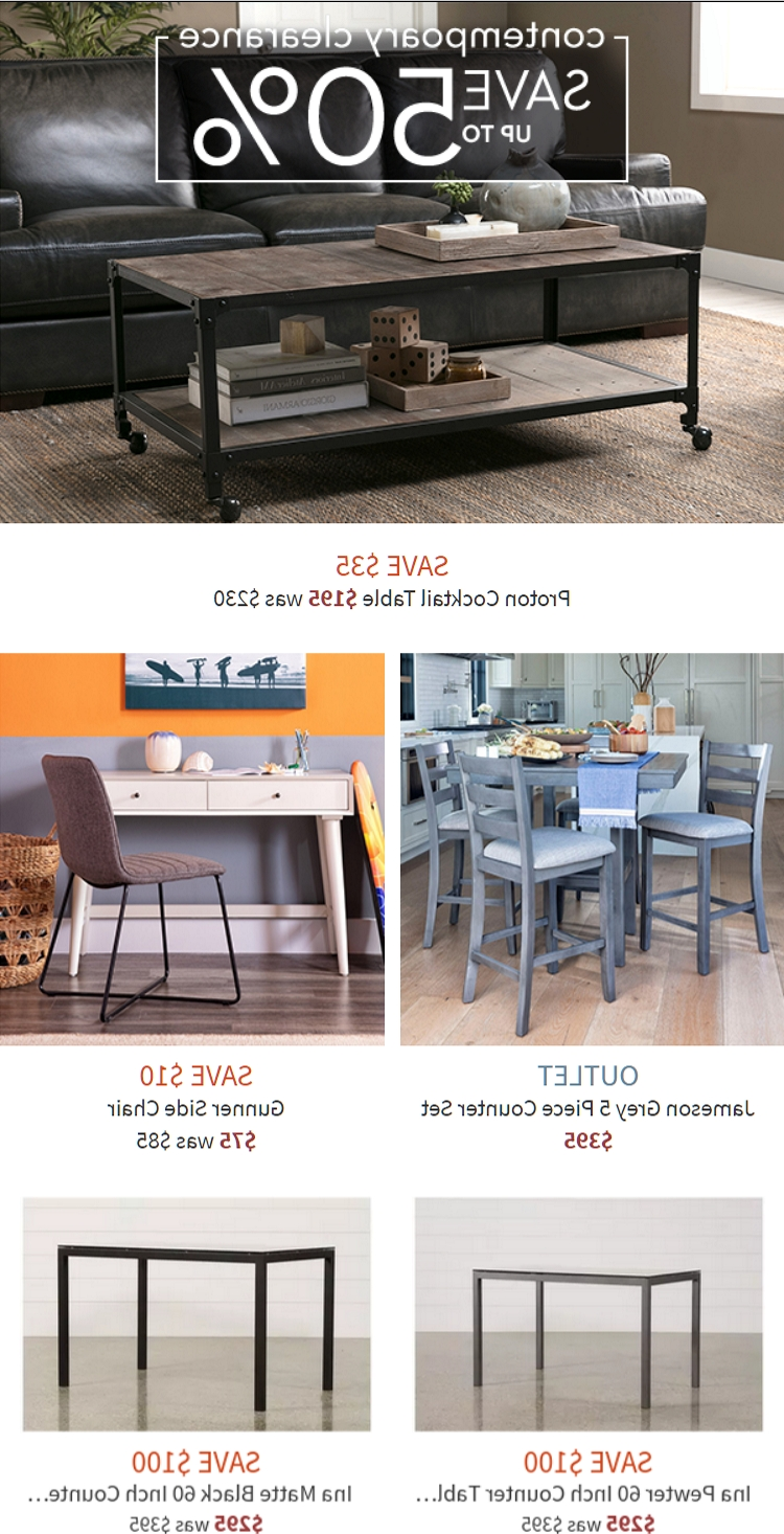 Newest Proton Cocktail Tables In $50 Off Living Spaces Coupons & Promo Codes – October 2018 (Gallery 14 of 20)