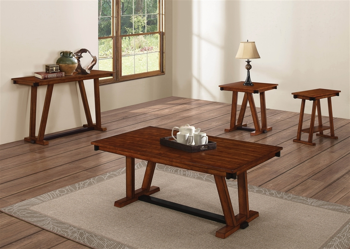 Newest Traditional Coffee Tables Inside Coaster Knottley 704288 Brown Traditional Coffee Table (View 20 of 20)