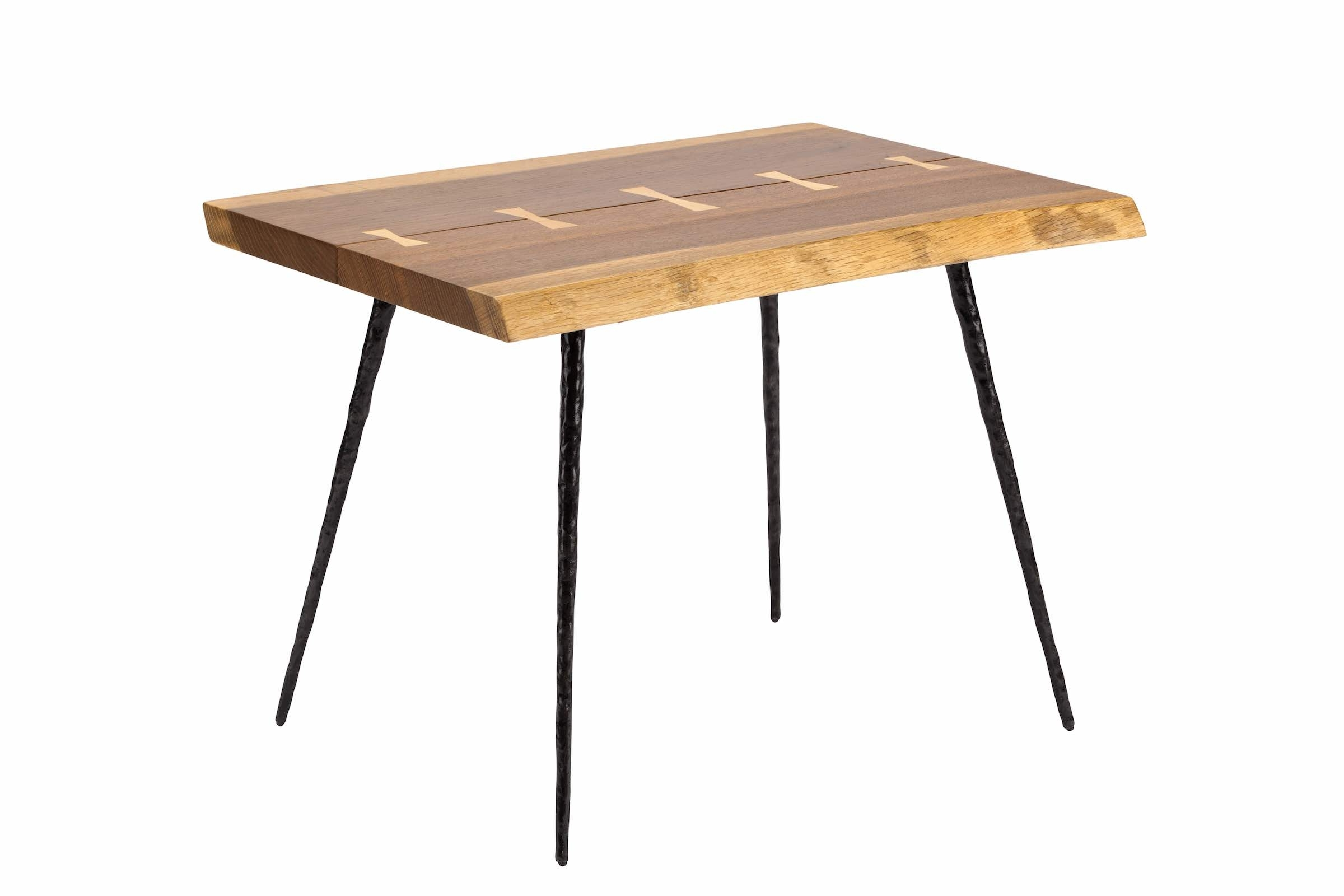 Nexa Side Table In Smoked Oak And Black Cast Iron Legs In Most Recently Released Smoked Oak Side Tables (View 9 of 20)