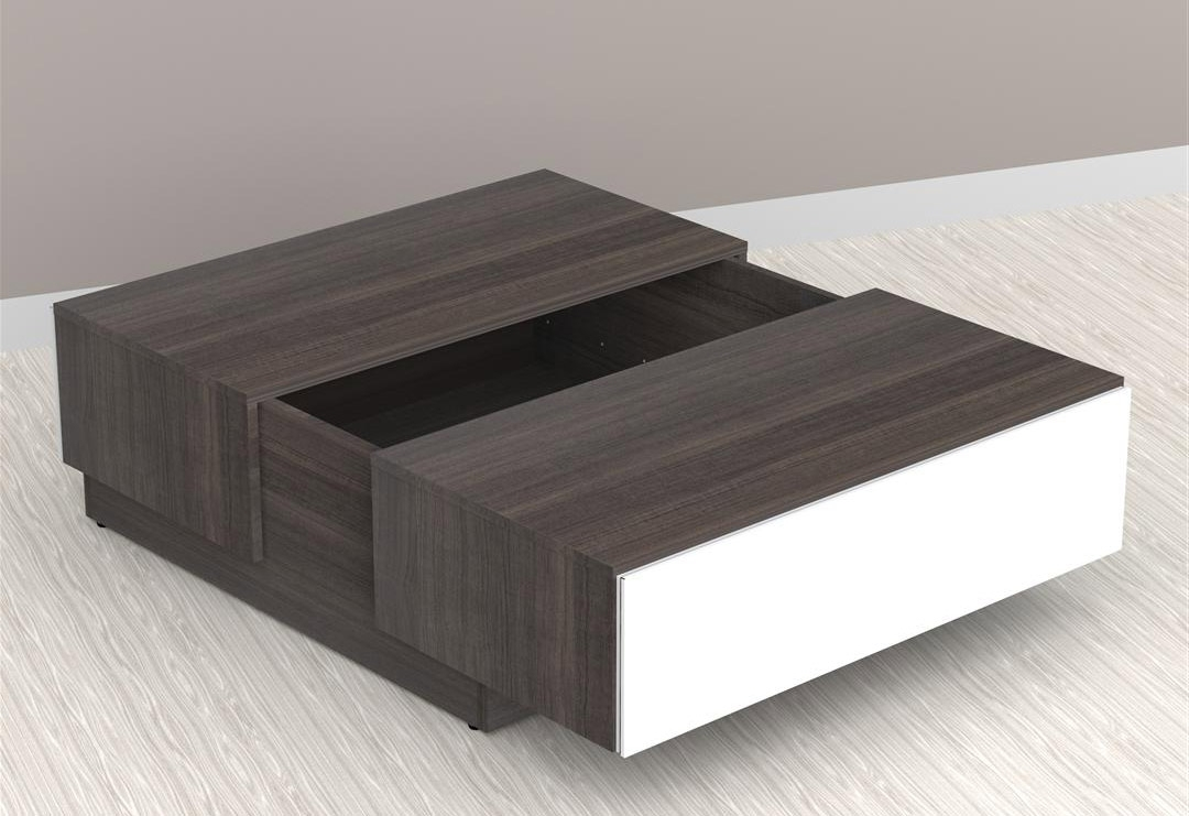 Nexera Allure Coffee Table With Hidden Storage Nx 220733 At Intended For Latest Allure Cocktail Tables (View 14 of 20)