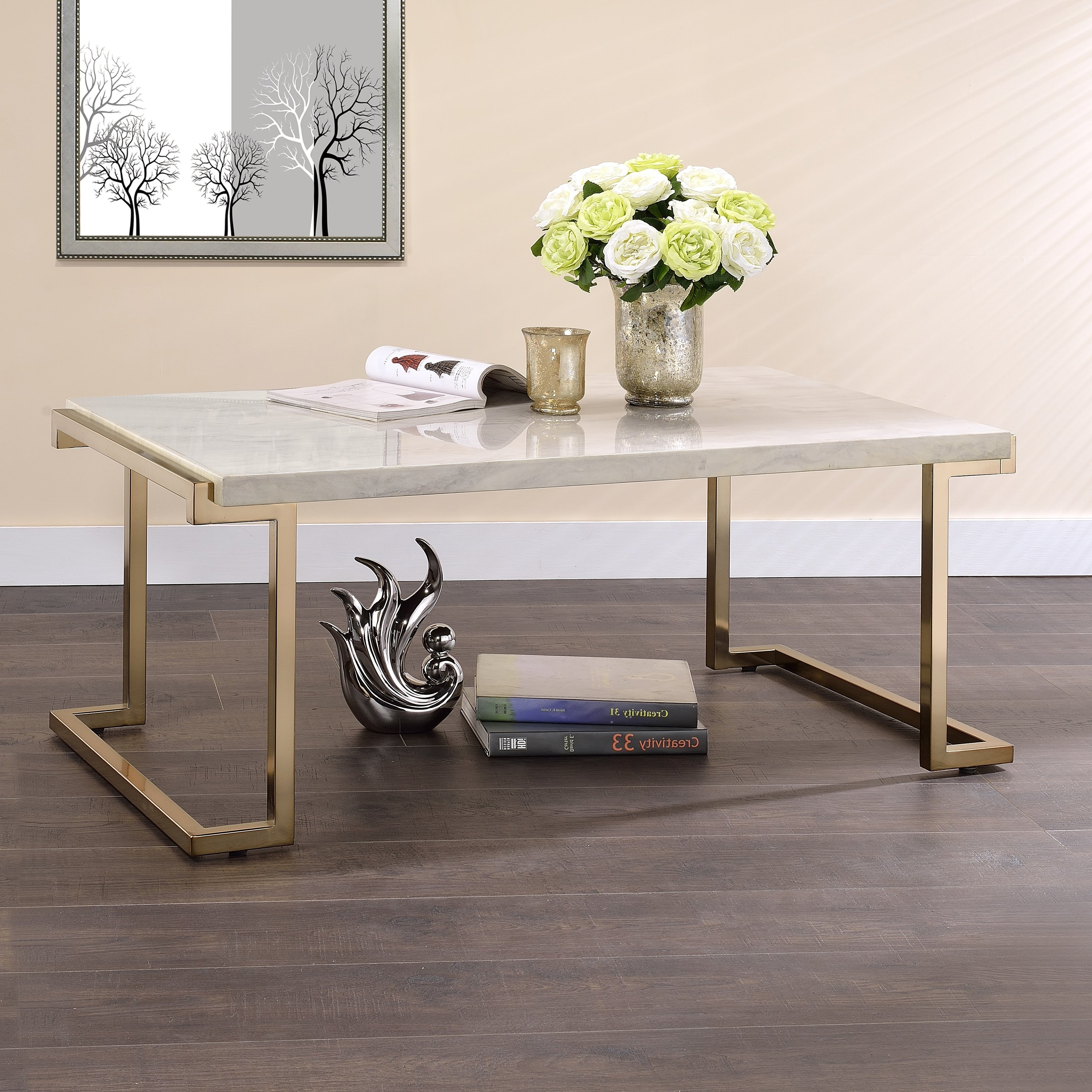 Nola Glass Rectangular Coffee Table With Storage Shelf, Cocktail Within Widely Used Nola Cocktail Tables (View 11 of 20)