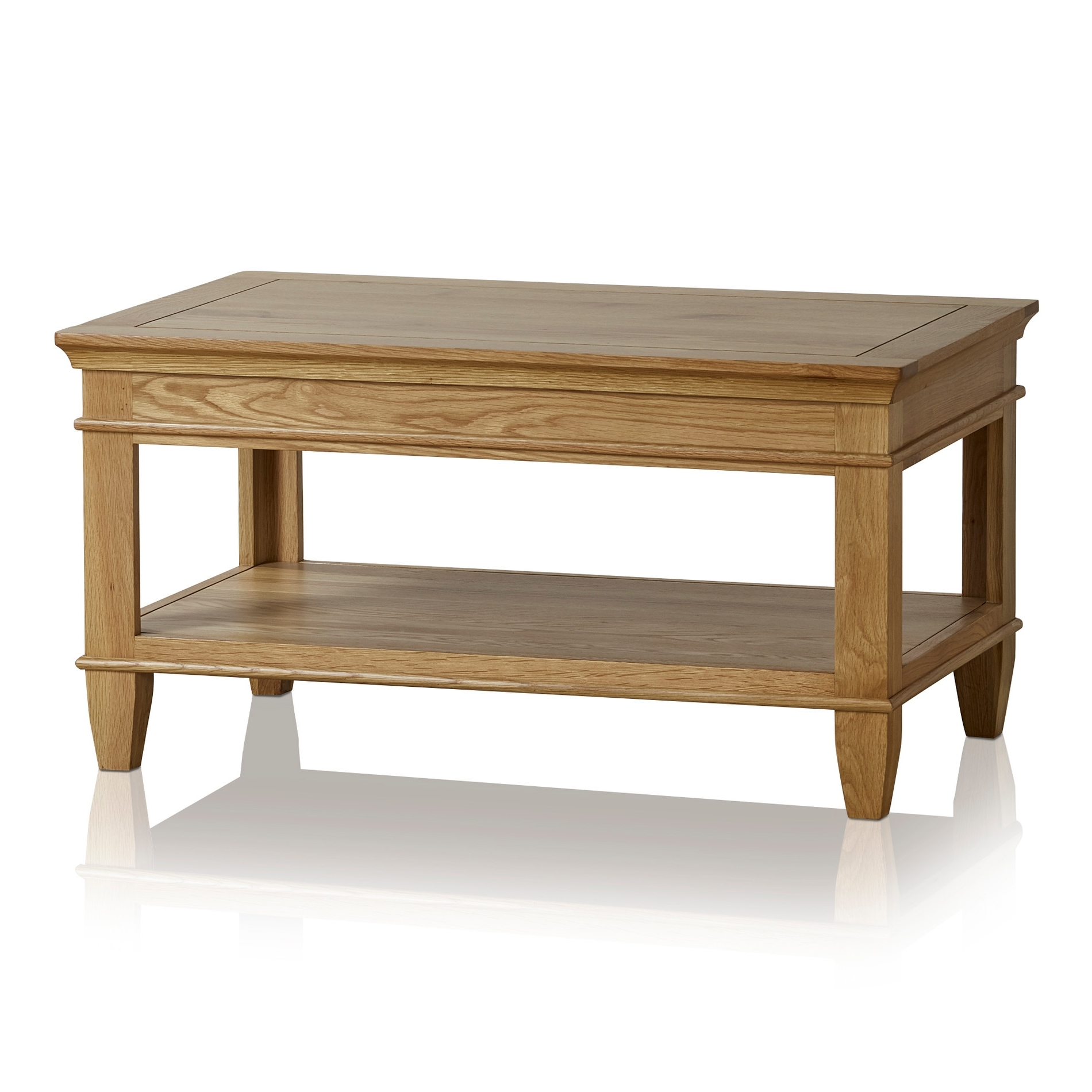 Oak Furniture Land In Fashionable Natural 2 Drawer Shutter Coffee Tables (View 17 of 20)