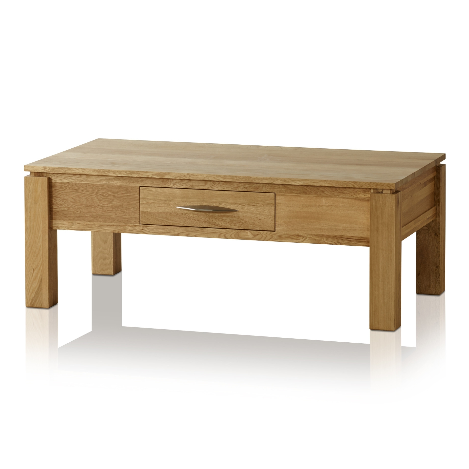 Oak Furniture Land Inside Current Natural 2 Drawer Shutter Coffee Tables (View 6 of 20)