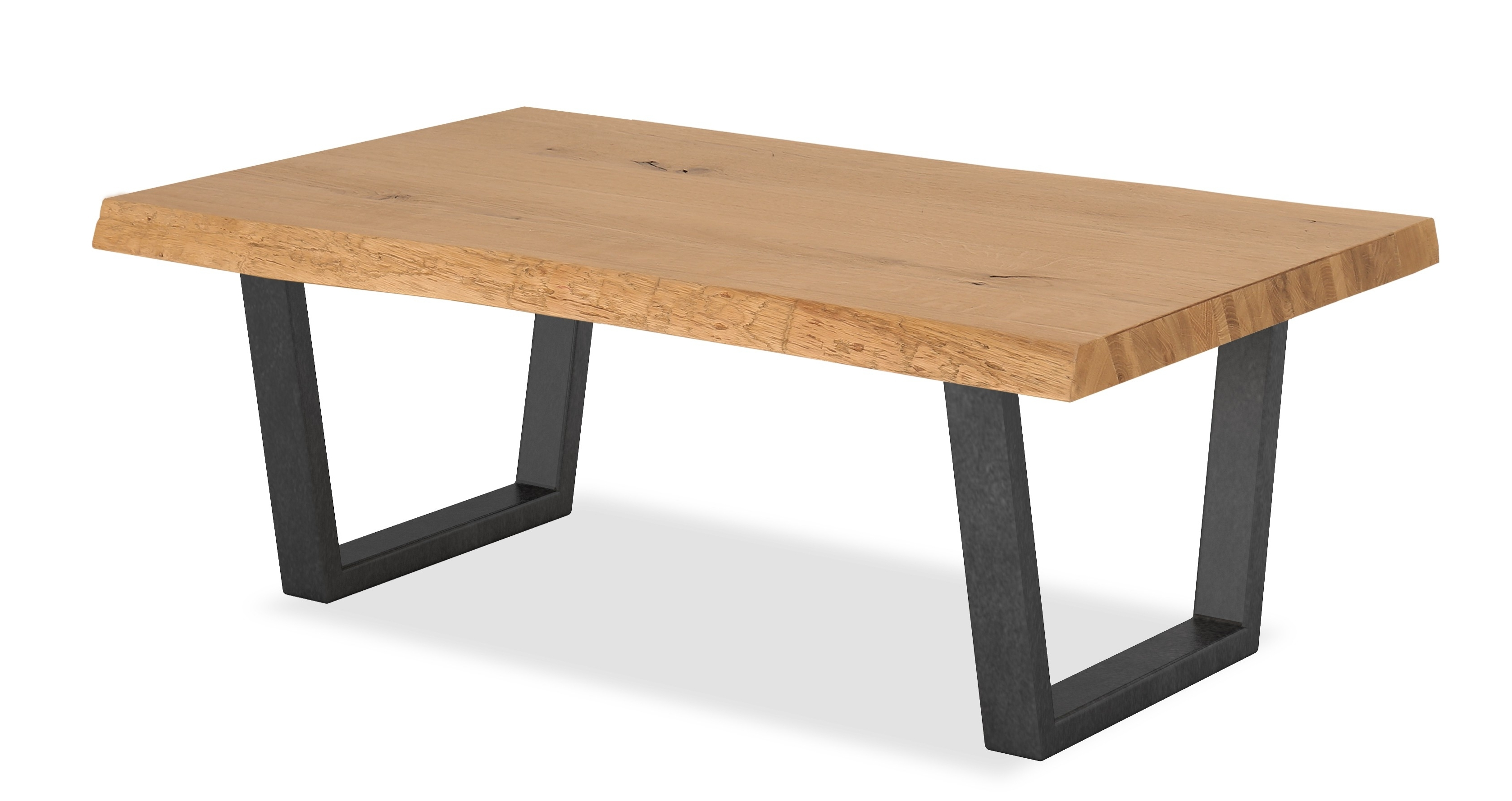 Oak Mill Waxed Oak Coffee Table – Metal Legs – Style Our Home Regarding Well Known Waxed Metal Coffee Tables (View 10 of 20)