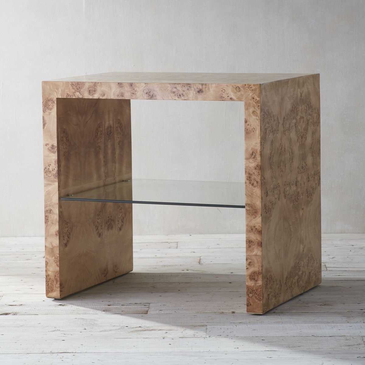 Oslo Burl Wood Veneer Collection – Side Table (View 3 of 20)