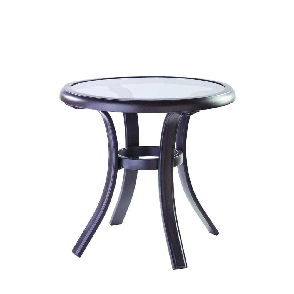 Outdoor Side Tables – Patio Tables – The Home Depot Inside Most Popular Jackson Marble Side Tables (View 20 of 20)