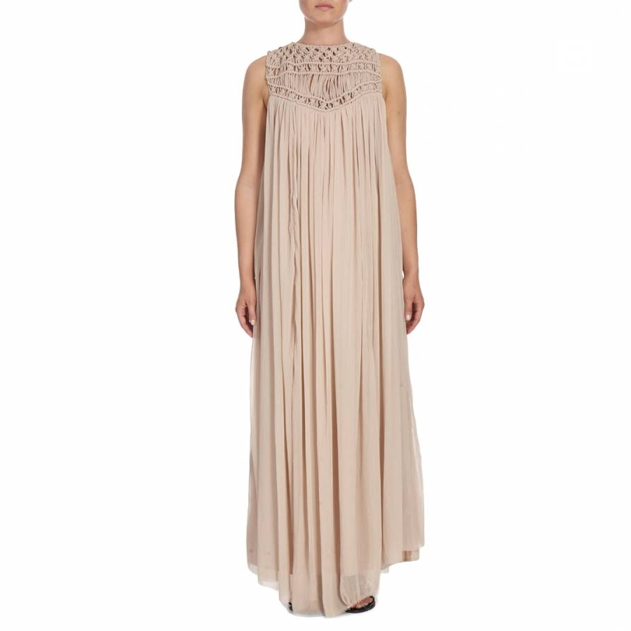 Pale Pink Elba Crochet Maxi Dress – Brandalley With Well Known Elba Cocktail Tables (View 13 of 20)