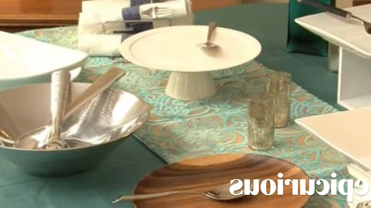 Party Ideas: Setting The Buffet Table – Youtube In Popular Cara Cocktail Tables (View 5 of 20)