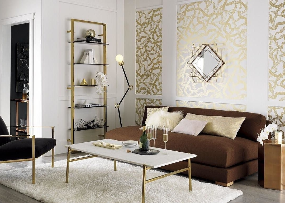 Piazza Wire Mirror Copper Ziggy White Shag 5X8 Cue Chair Brass Slab Inside Fashionable Slab Large Marble Coffee Tables With Brass Base (View 15 of 20)