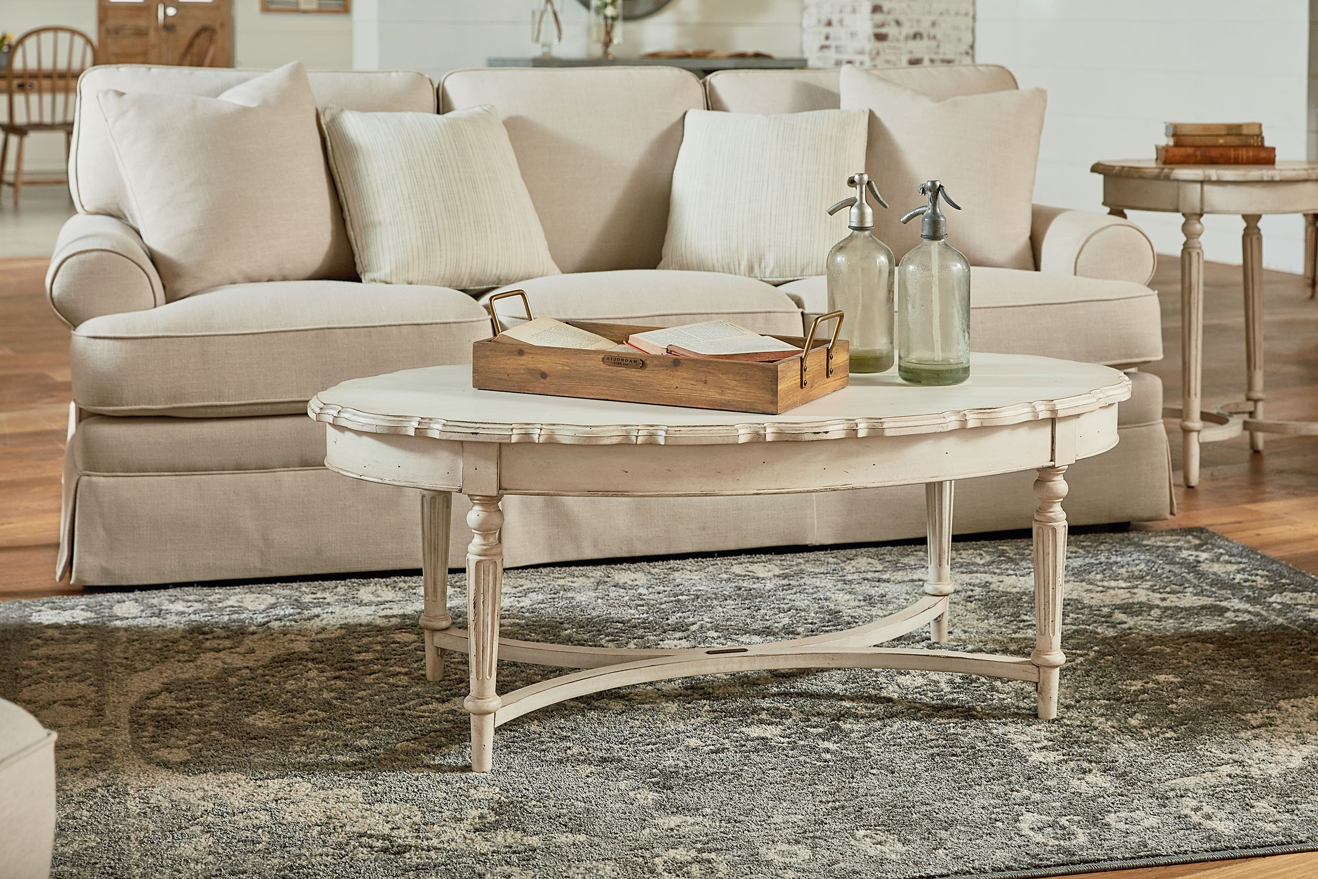 Pie Crust Coffee Table – Magnolia Home With 2018 Magnolia Home Ellipse Cocktail Tables By Joanna Gaines (View 15 of 20)