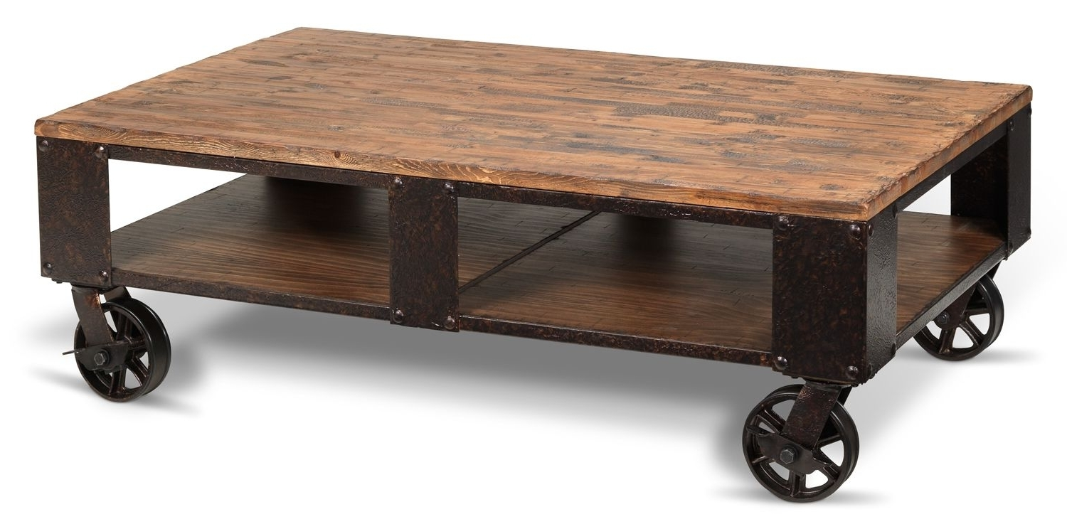 Pinebrook Coffee Table – Distressed Natural Pine (View 15 of 20)