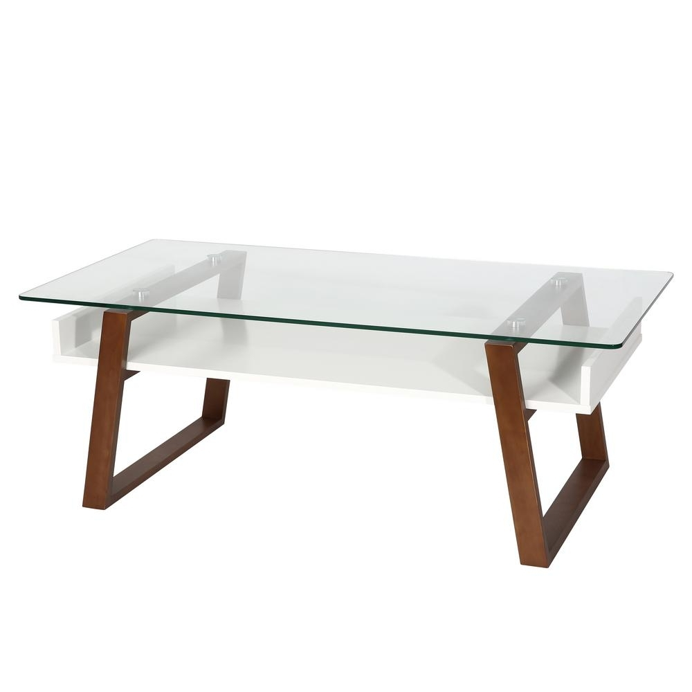 Poly And Bark Segovia Walnut Glass Top Coffee Table Hd 325 Wal – The Regarding Well Liked Walnut Finish 6 Drawer Coffee Tables (View 14 of 20)