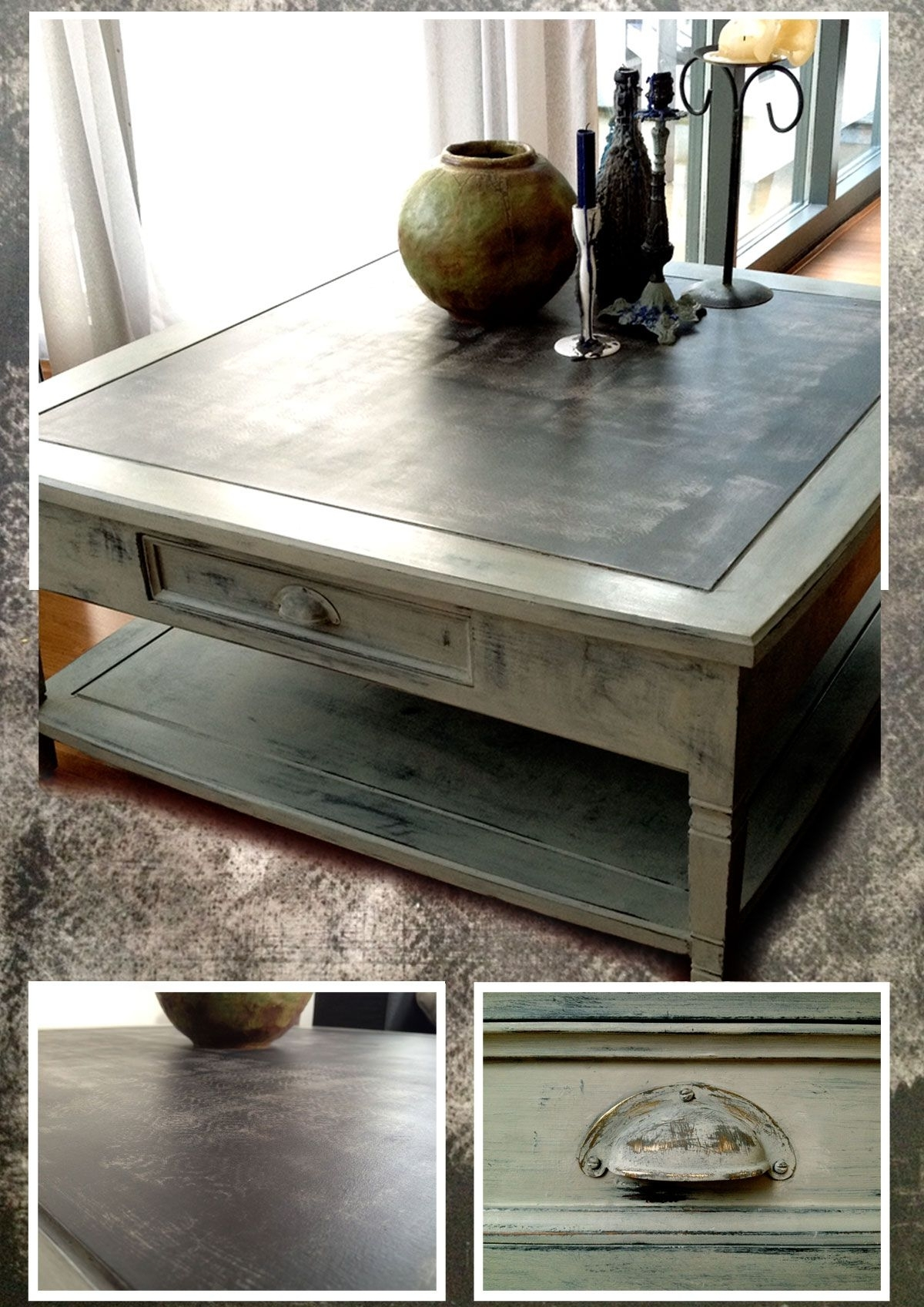 Popular Batik Coffee Tables Throughout Coffee Table In Black, Green Ish Grey And Taupe (View 3 of 20)