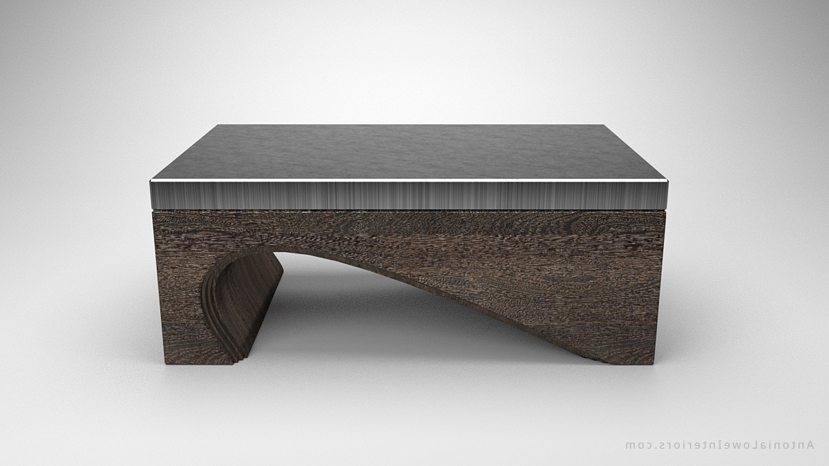 Popular Contemporary Curves Coffee Tables Within Contemporary Solid Curve Bottom Coffee Table – Interior Designer (View 7 of 20)