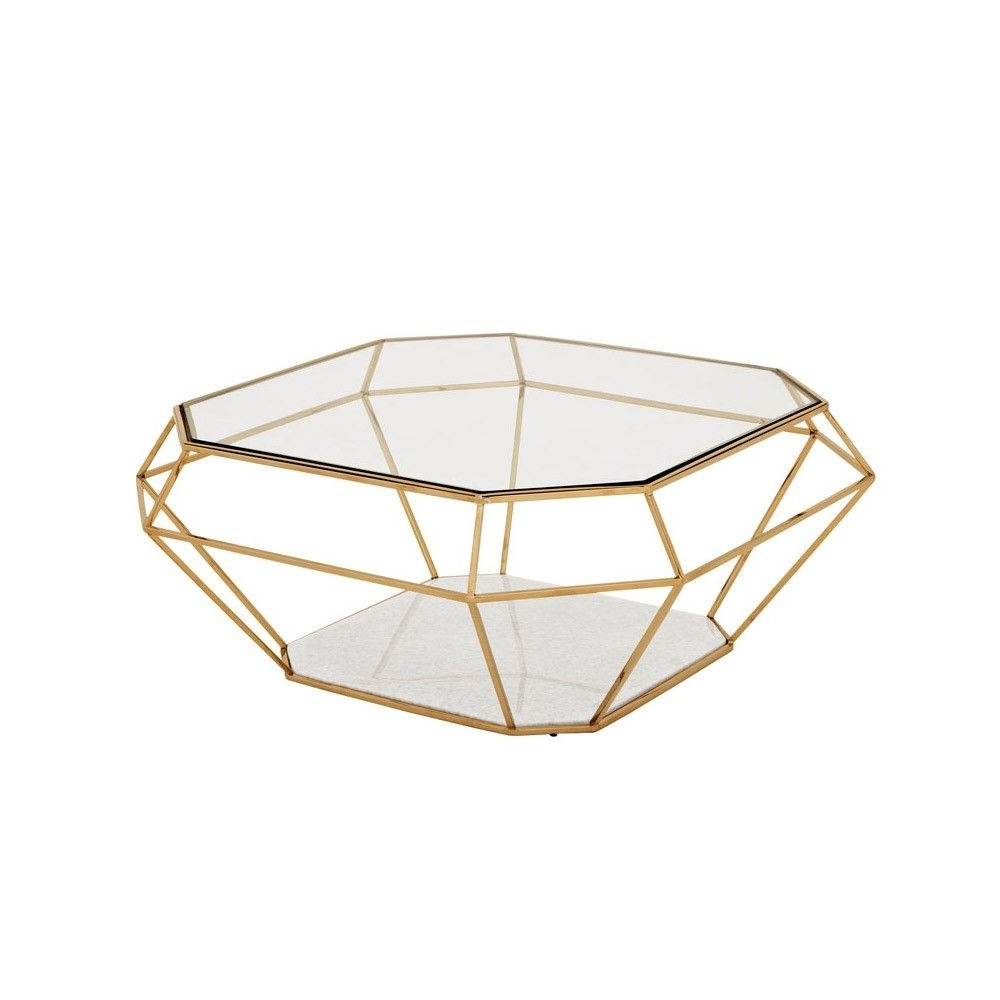 Popular Geo Faceted Coffee Tables In Eichholtz Asscher Coffee Table – Gold (View 14 of 20)