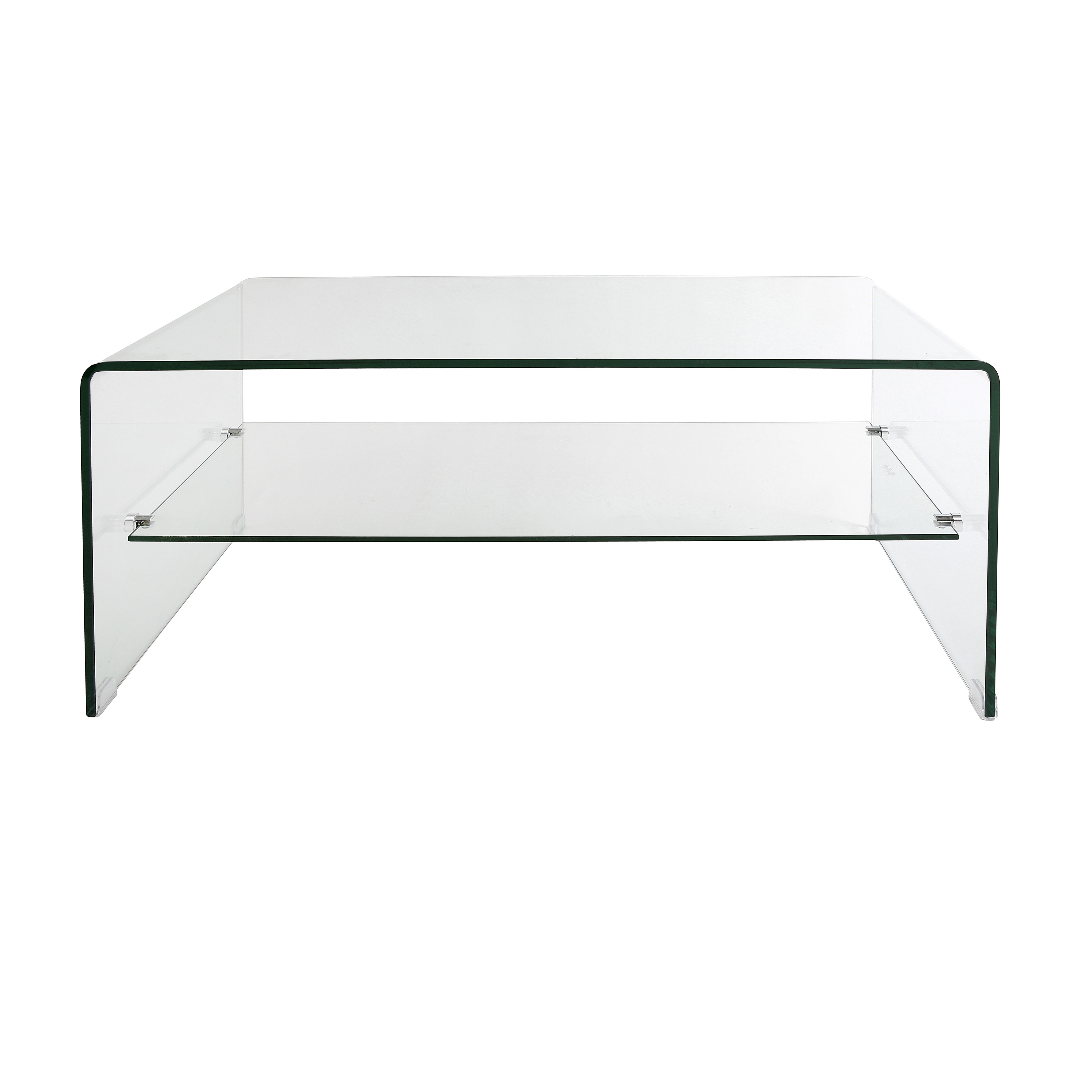 Popular Modern Acrylic Coffee Tables Pertaining To Modern Rectangle Clear Acrylic Coffee Table Come With Shelf Design (View 17 of 20)
