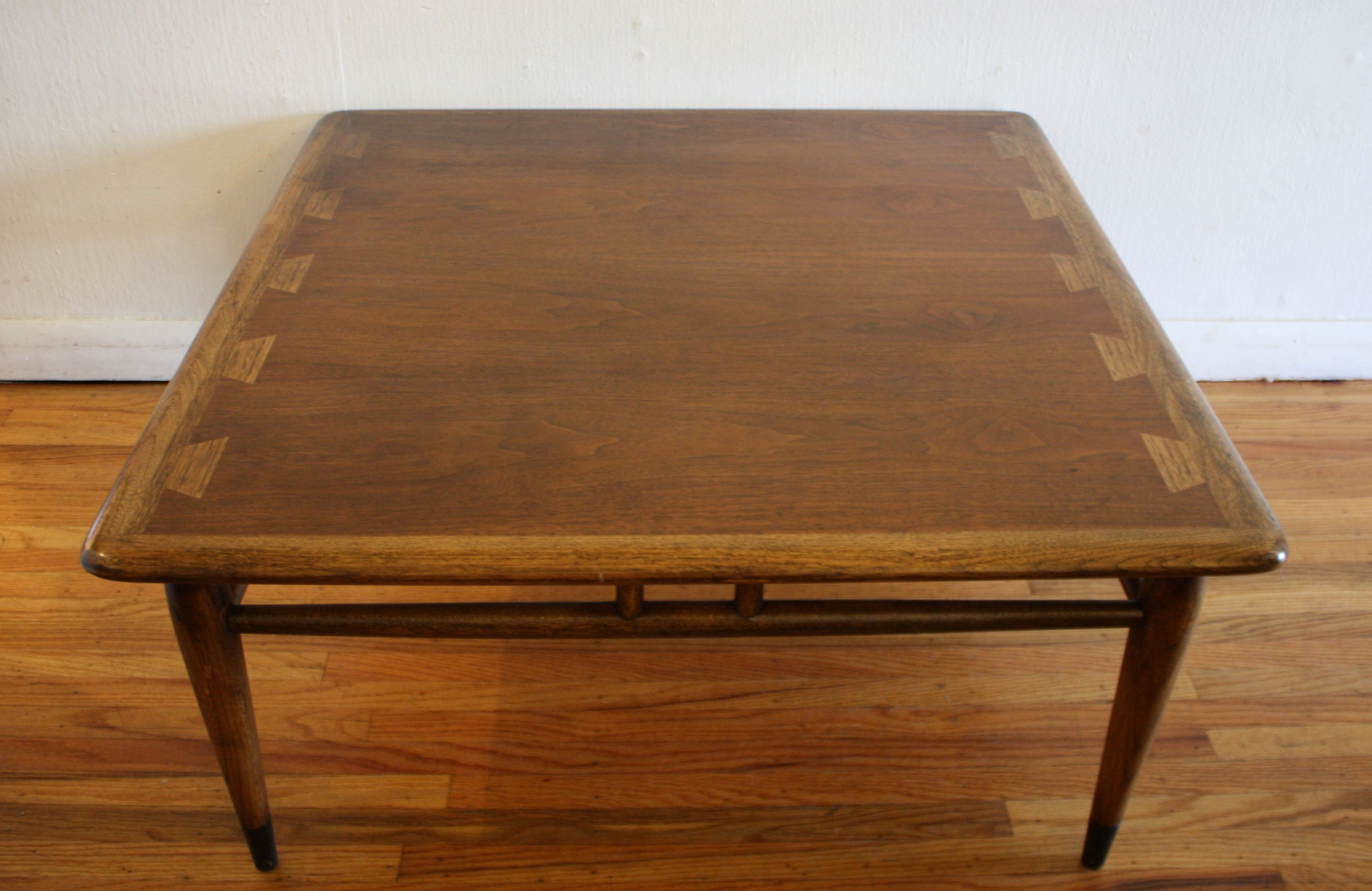 Popular Vintage Wood Coffee Tables Pertaining To Mid Century Modern Lane Acclaim Square Coffee Table Ked Vintage (View 11 of 20)