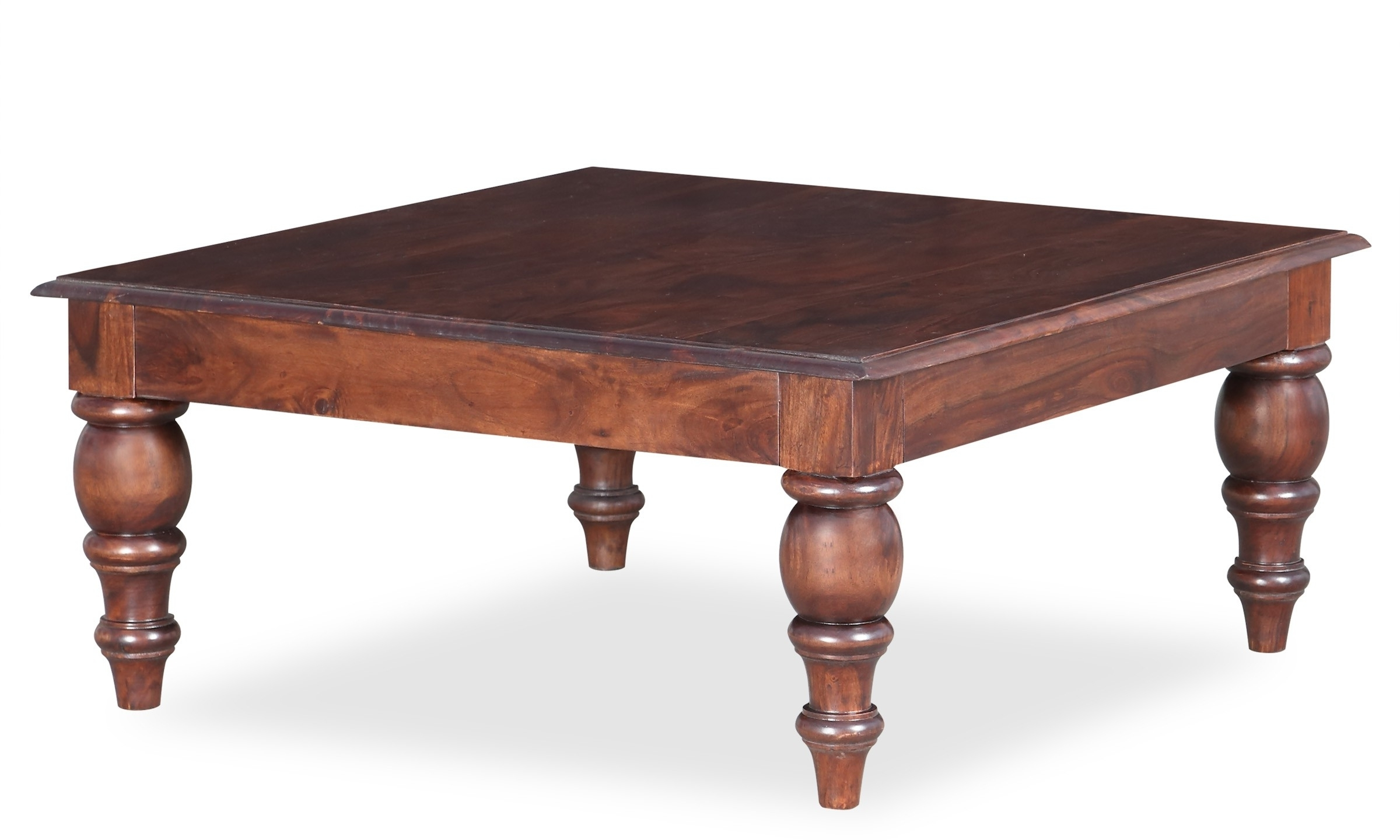 Popular Walnut Finish 6 Drawer Coffee Tables For Altavista Booze Solid Wood Coffee Table (walnut Finish) (View 9 of 20)