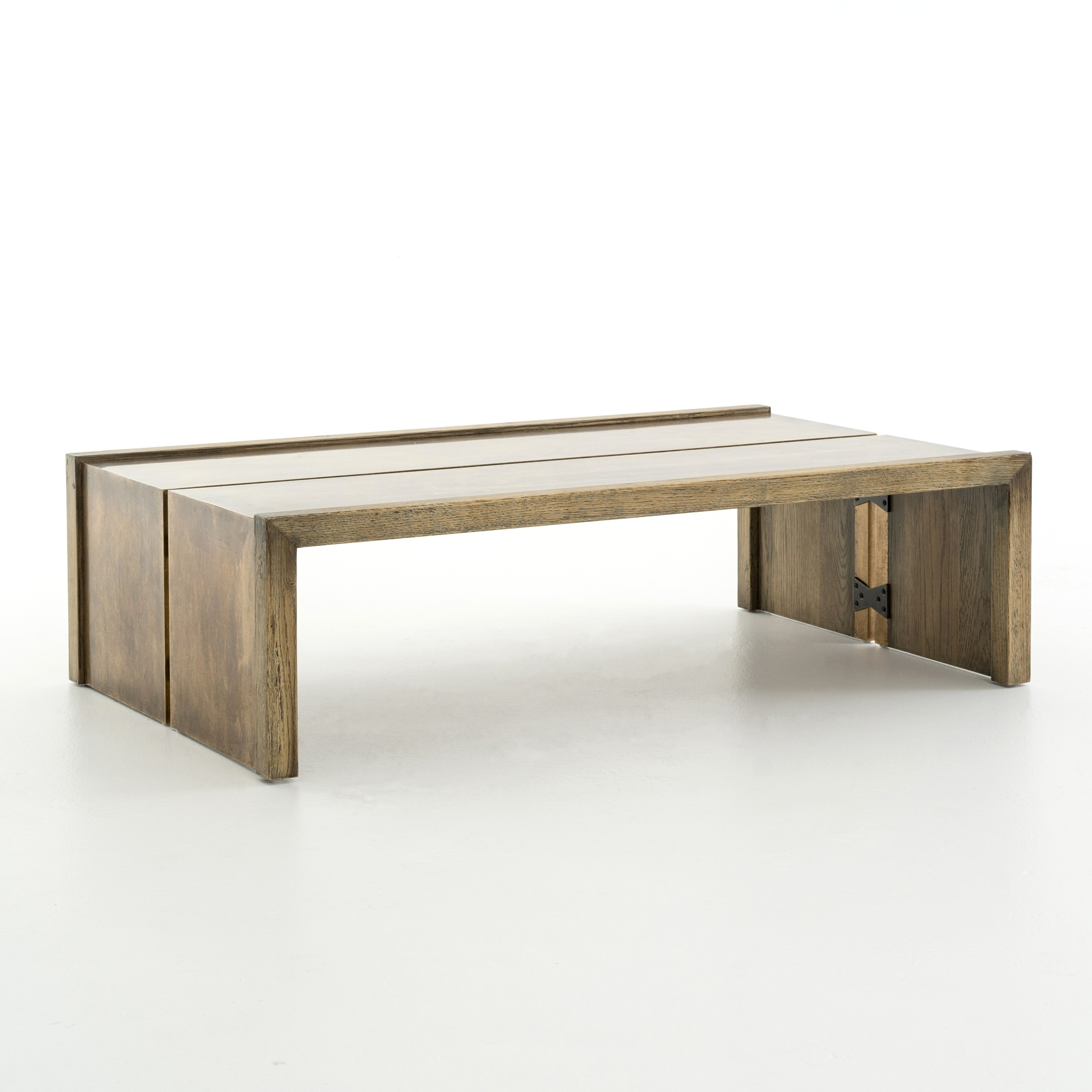 Popular Weaver Dark Rectangle Cocktail Tables Pertaining To Weaver Coffee Table Antique Brass – Boulevard Urban Living (View 10 of 20)
