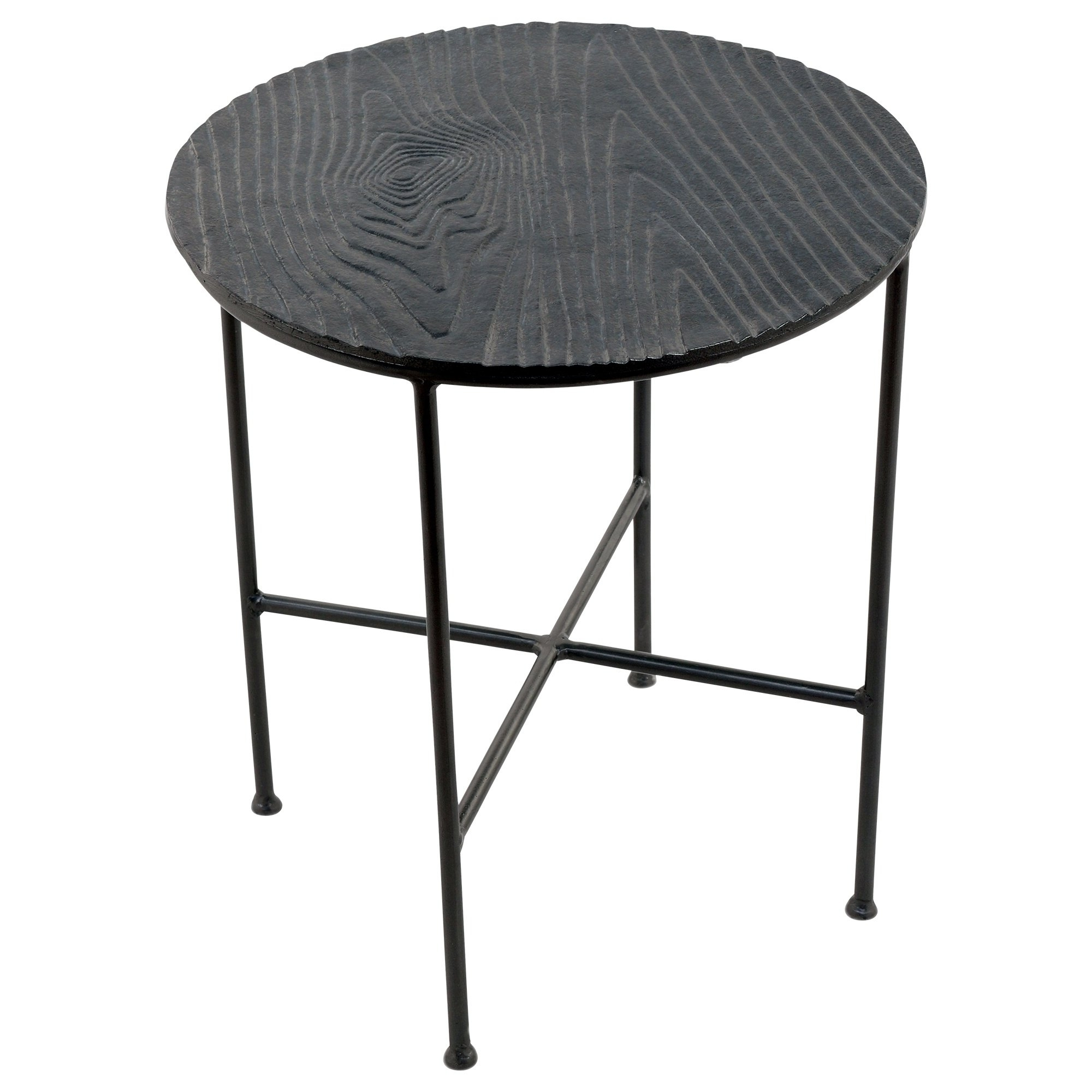 Preferred Bale Rustic Grey Round Cocktail Tables With Storage Throughout Shop Renwil Bale Grey Aluminum Round Accent Table – Free Shipping (View 9 of 20)