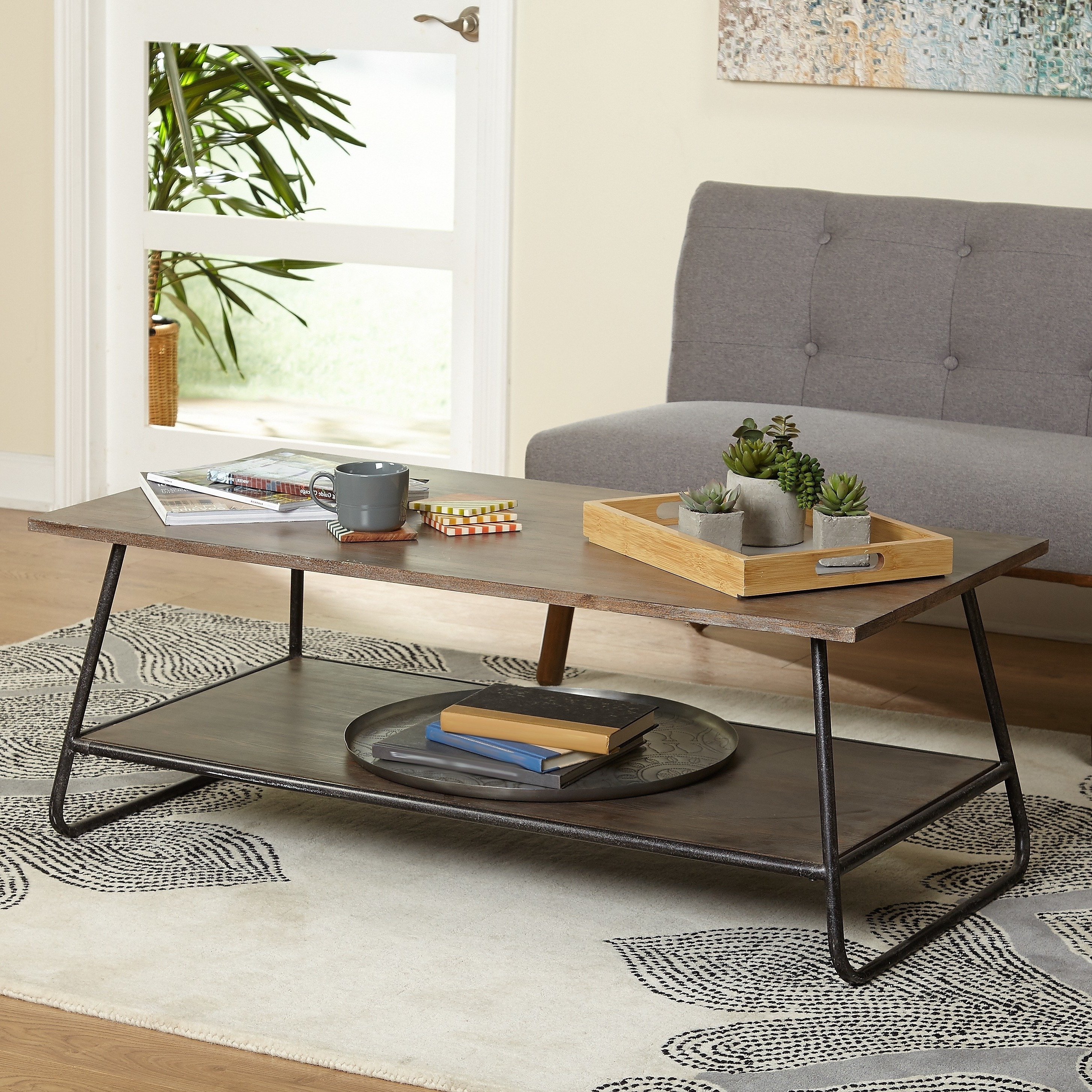 Preferred Elba Cocktail Tables Intended For Shop Simple Living Mid Century Francisky Coffee Table – Free (View 16 of 20)
