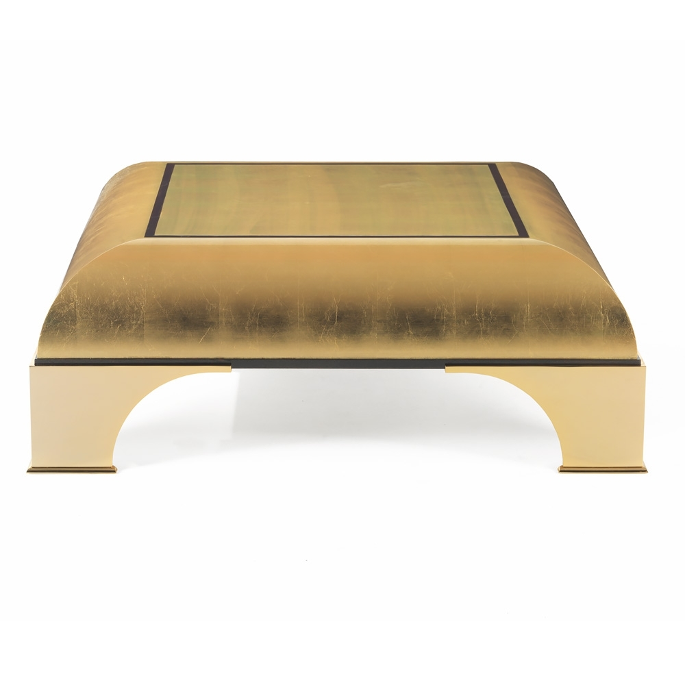 Preferred Gold Leaf Collection Coffee Tables For Modern High End Gold Leaf Square Coffee Table (View 16 of 20)