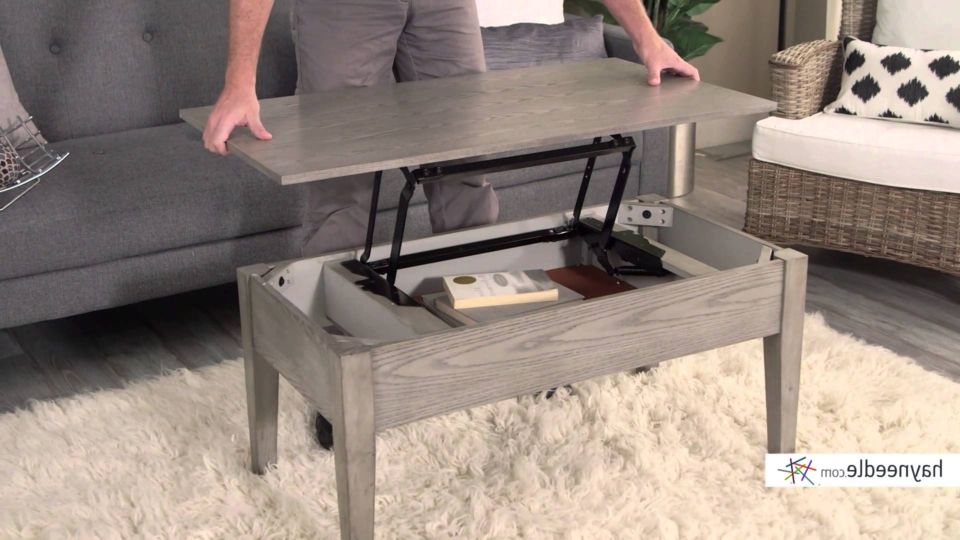 Preferred Market Lift Top Cocktail Tables With Turner Lift Top Coffee Table – Gray – Product Review Video – Youtube (View 14 of 20)