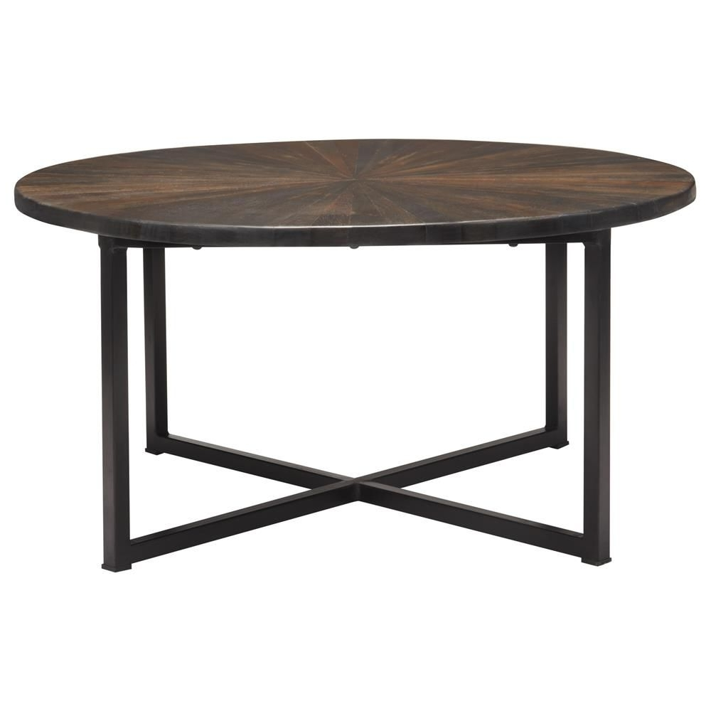 Preferred Mountainier Cocktail Tables Inside Atelier – World Traveler – Round Wood Top Coffee Table With Metal (View 9 of 20)