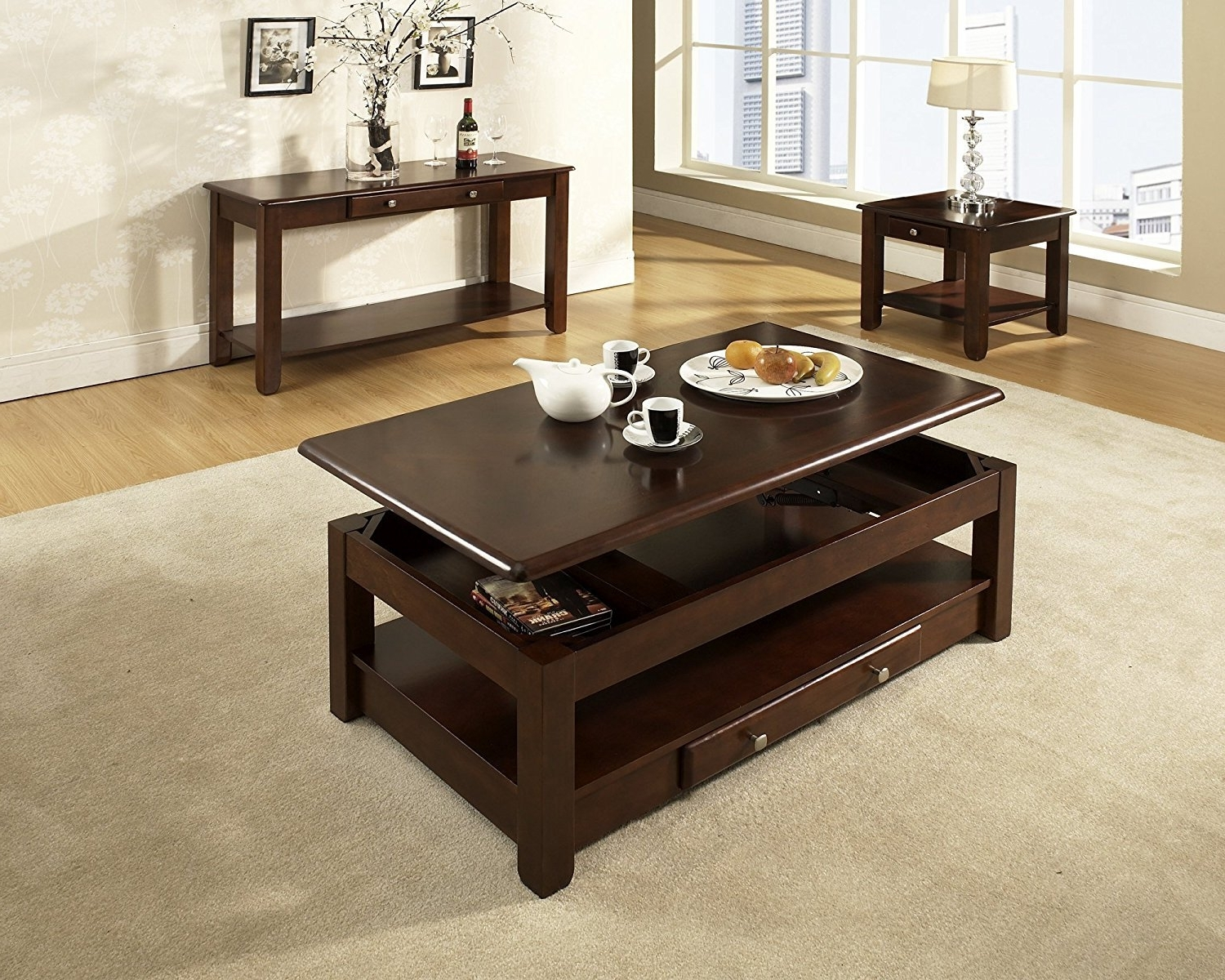 Preferred Proton Cocktail Tables In Masterly Casters Oak Sauder Black Hack Instructions Diy Tall (View 10 of 20)