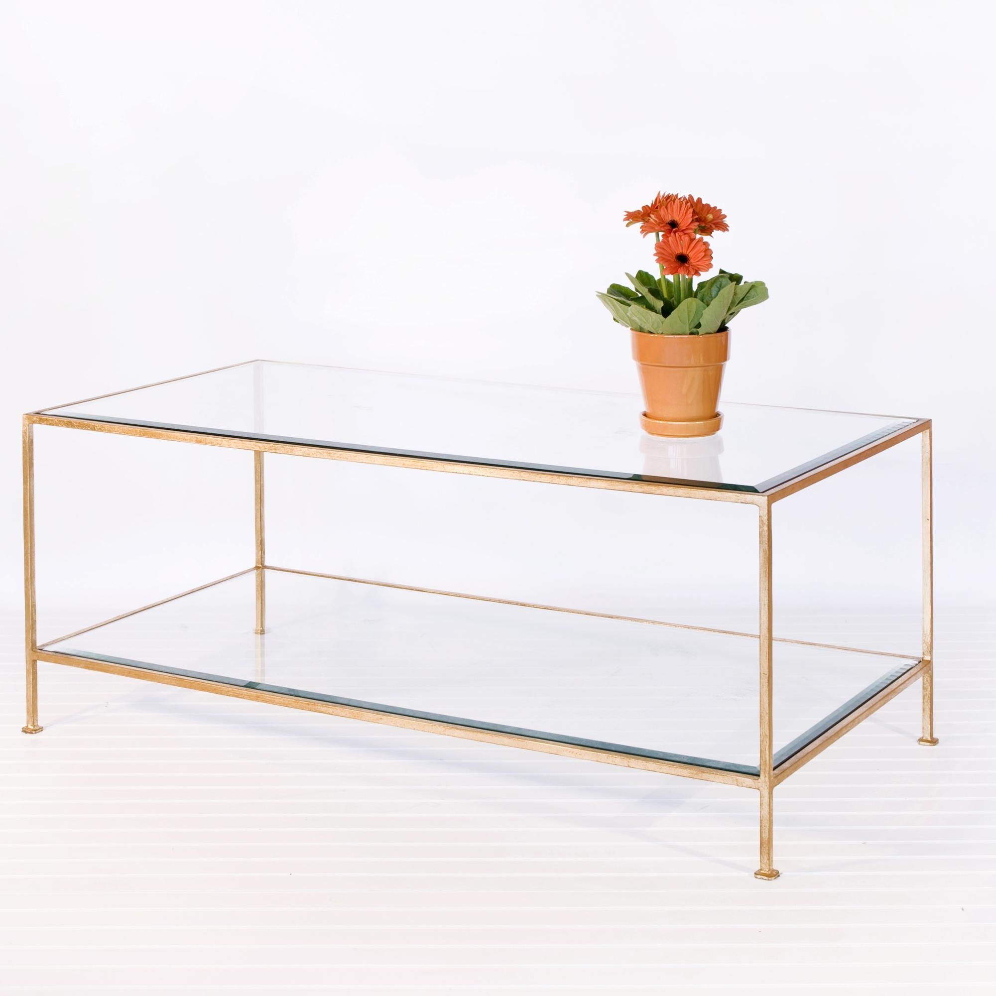 Preferred Rectangular Brass Finish And Glass Coffee Tables Regarding Coffee Table: Top 10 Ideas Glass Gold Coffee Table Gold Leaf Glass (View 15 of 20)