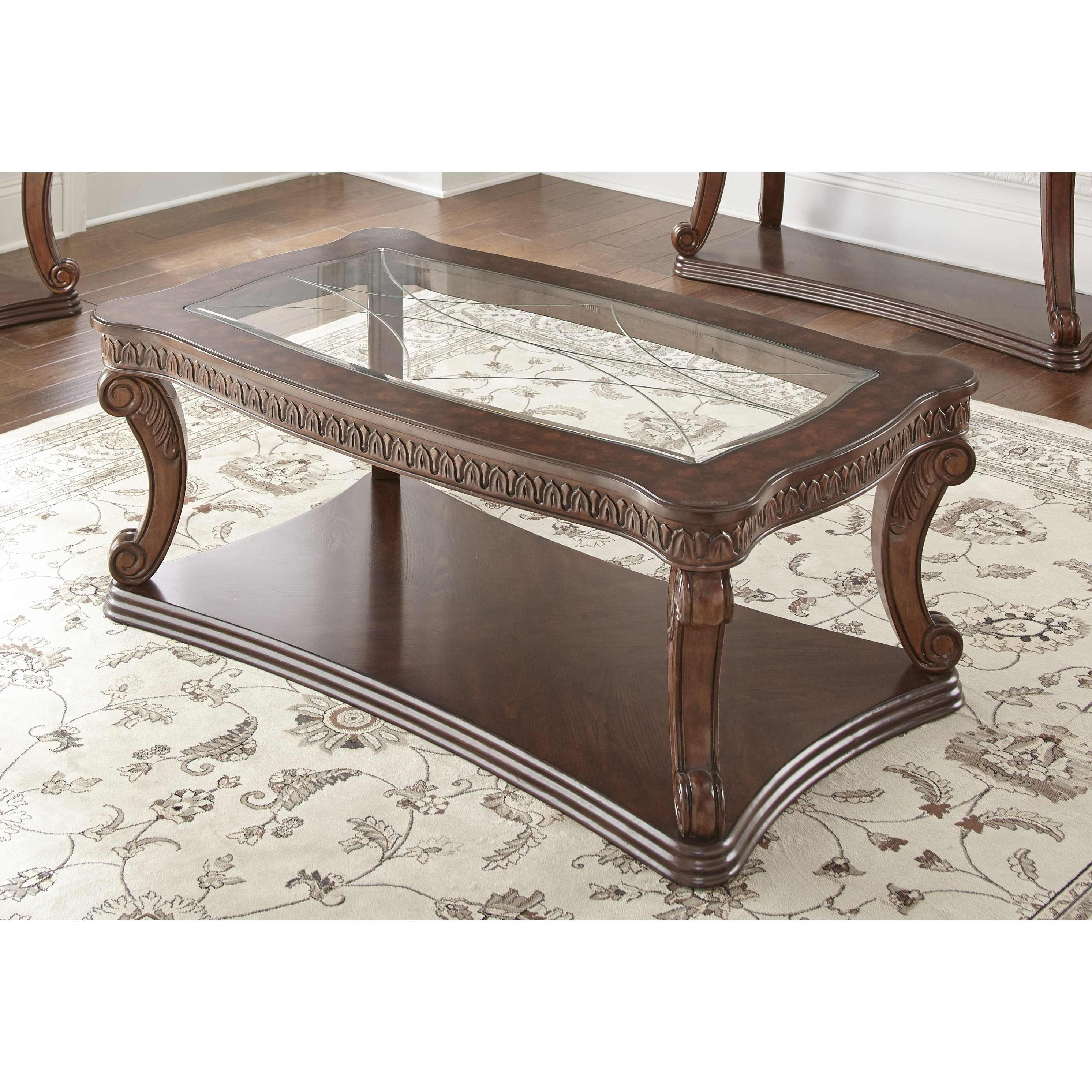 Preferred Traditional Coffee Tables Within Shop Isabella 52 Inch Traditional Coffee Tablegreyson Living (View 11 of 20)