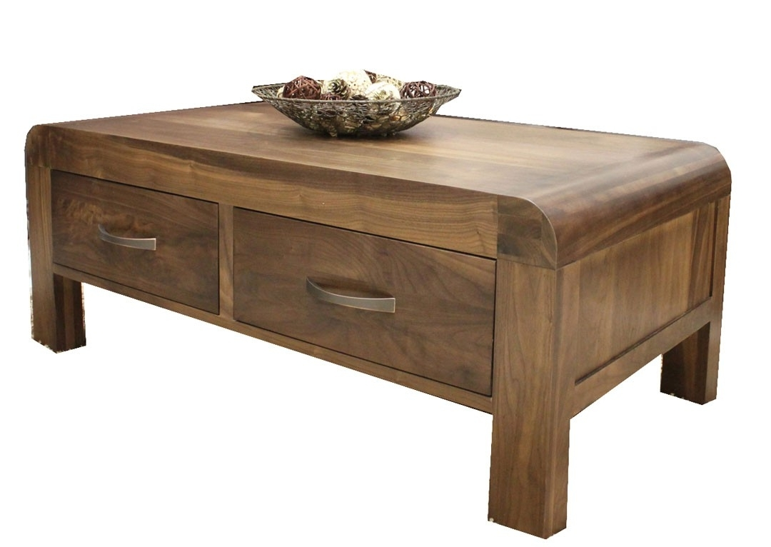 Preferred Walnut 4 Drawer Coffee Tables In Shiro – Walnut 4 Drawer Coffee Table (View 18 of 20)