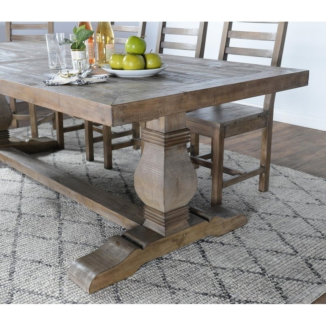 Recent 33 Inch Industrial Round Tables Throughout Shop Kasey Reclaimed Wood Desert Grey Dining Tablekosas Home (View 18 of 20)