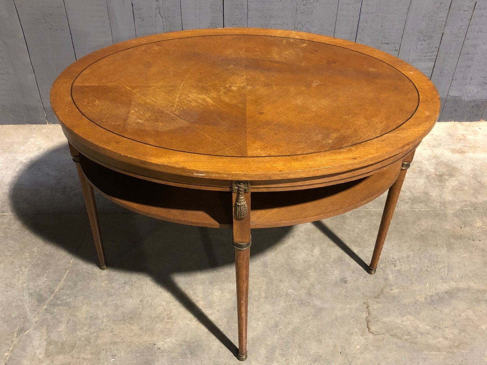 Recent Antiqued Art Deco Coffee Tables In Oval Art Déco Decoene Side Table – Table – Antiques & Furniture (View 17 of 20)