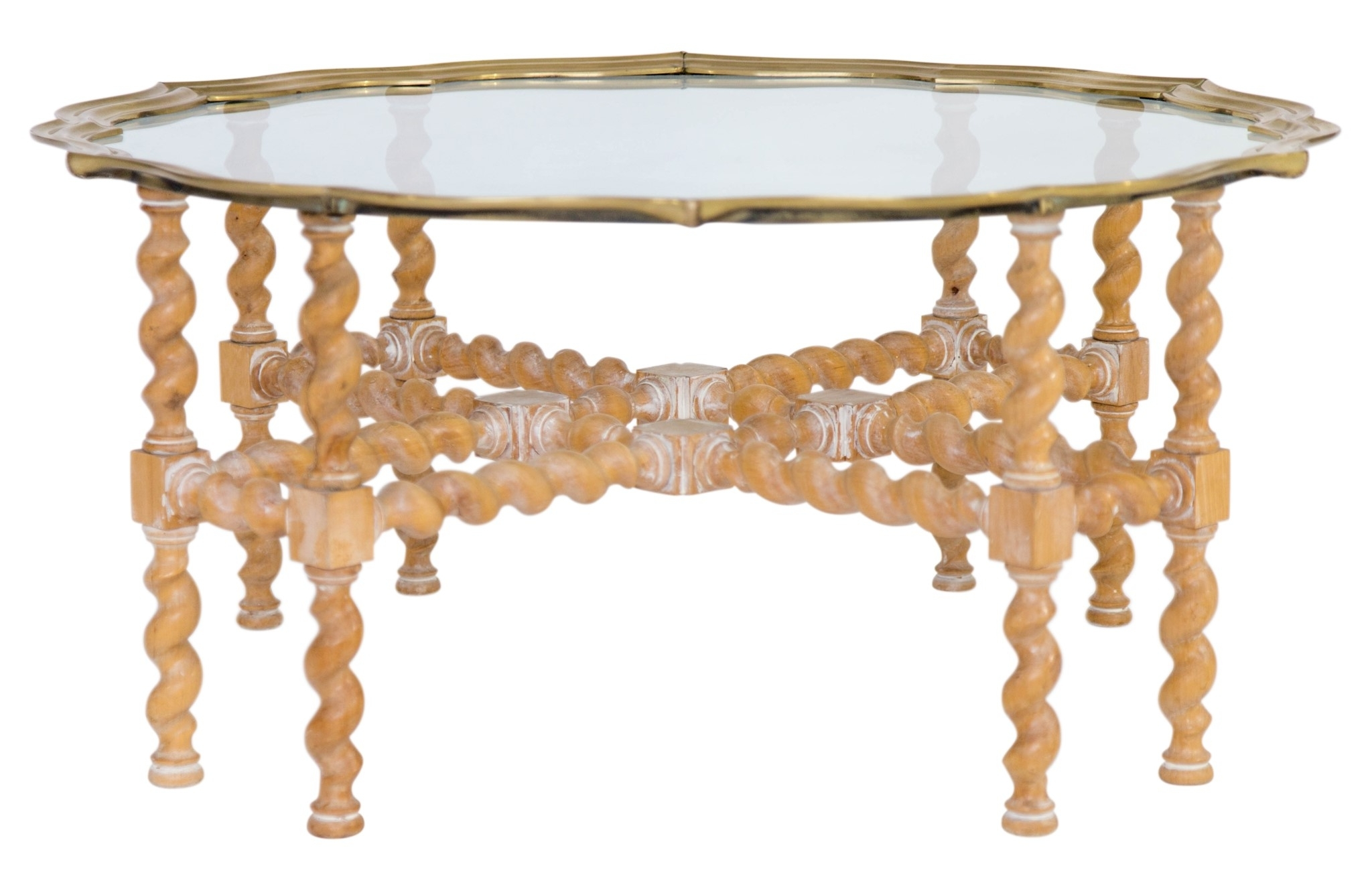 Recent Barley Twist Coffee Tables For Barley Twist Brass And Glass Coffee Table – Janney's Collection (View 16 of 20)