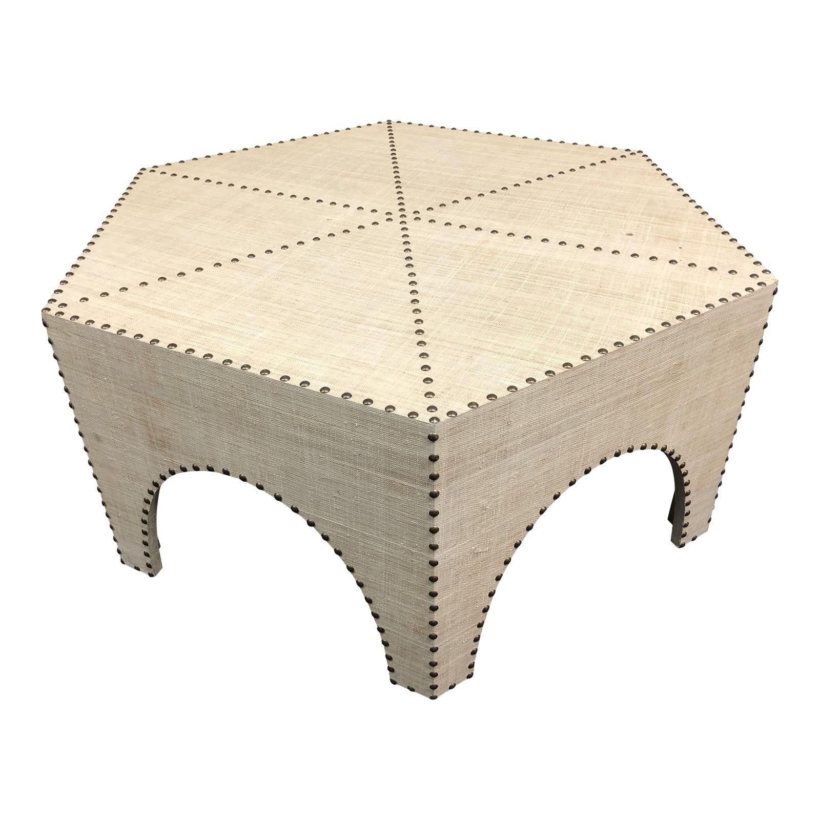 Recent Casablanca Coffee Tables With Regard To New Palecek Casablanca Raffia Coffee Table – Design Plus Gallery (View 6 of 20)
