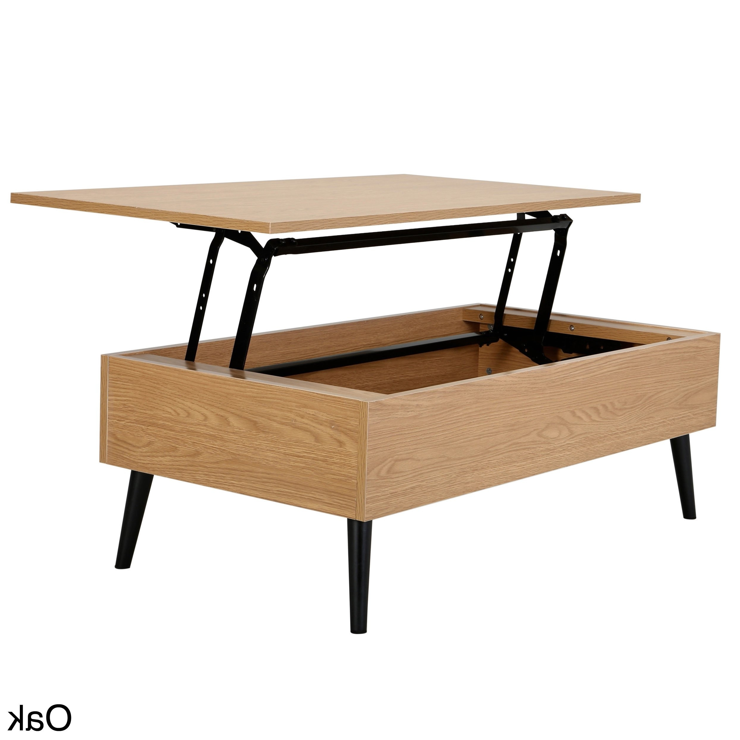 Recent Laurent Lift Top Cocktail Tables Within Shop Elliot Wood Lift Top Storage Coffee Tablechristopher Knight (View 13 of 20)