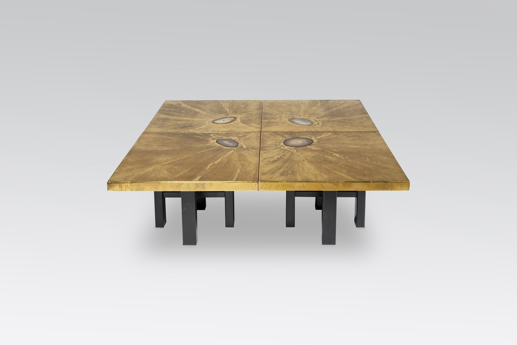 Recent Modular Coffee Tables Regarding Modular Coffee Tables With Brass Engravings & Agate Inlayslova (View 15 of 20)