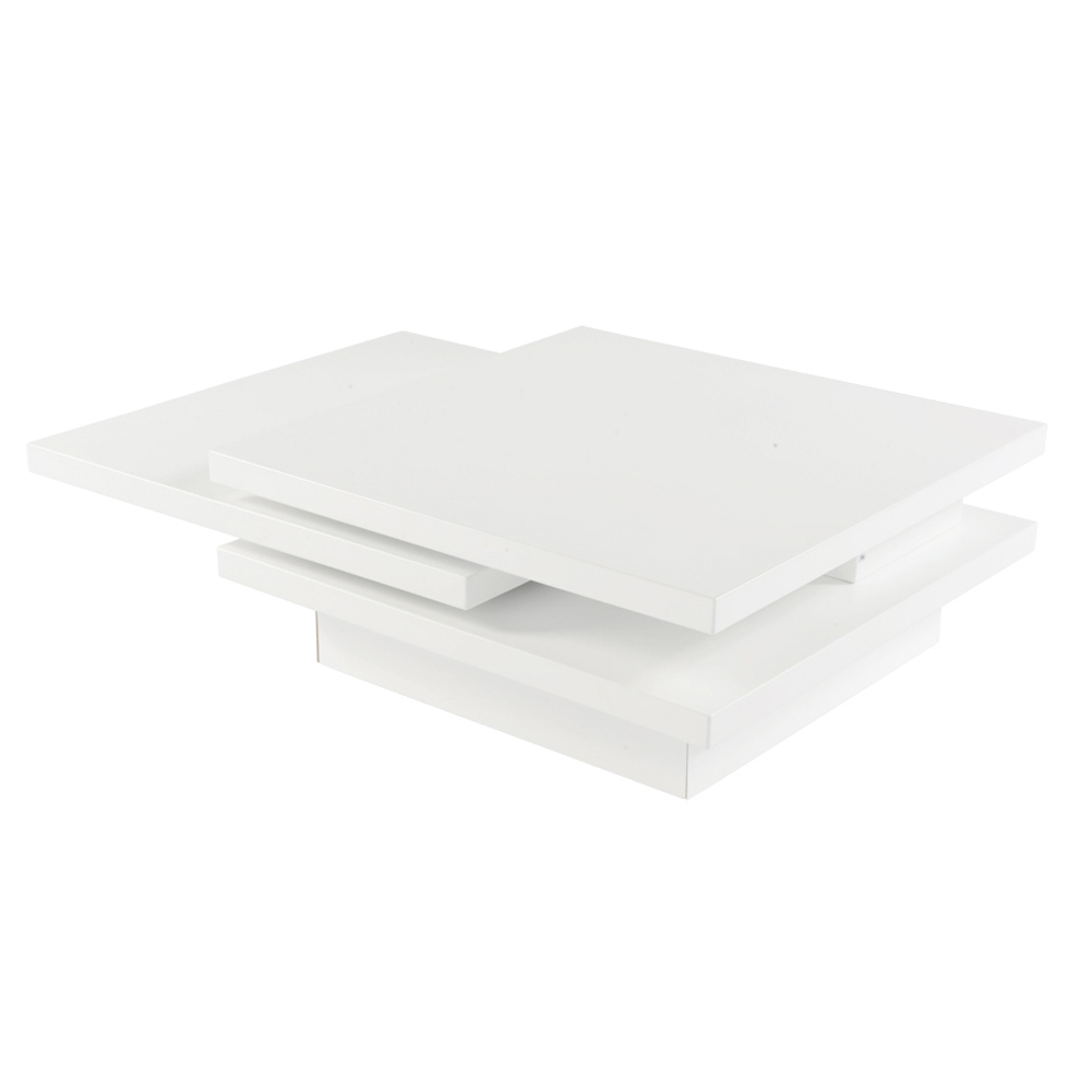 Recent Spin Rotating Coffee Tables With Rotate Square Coffee Table White – Dwell (View 9 of 20)