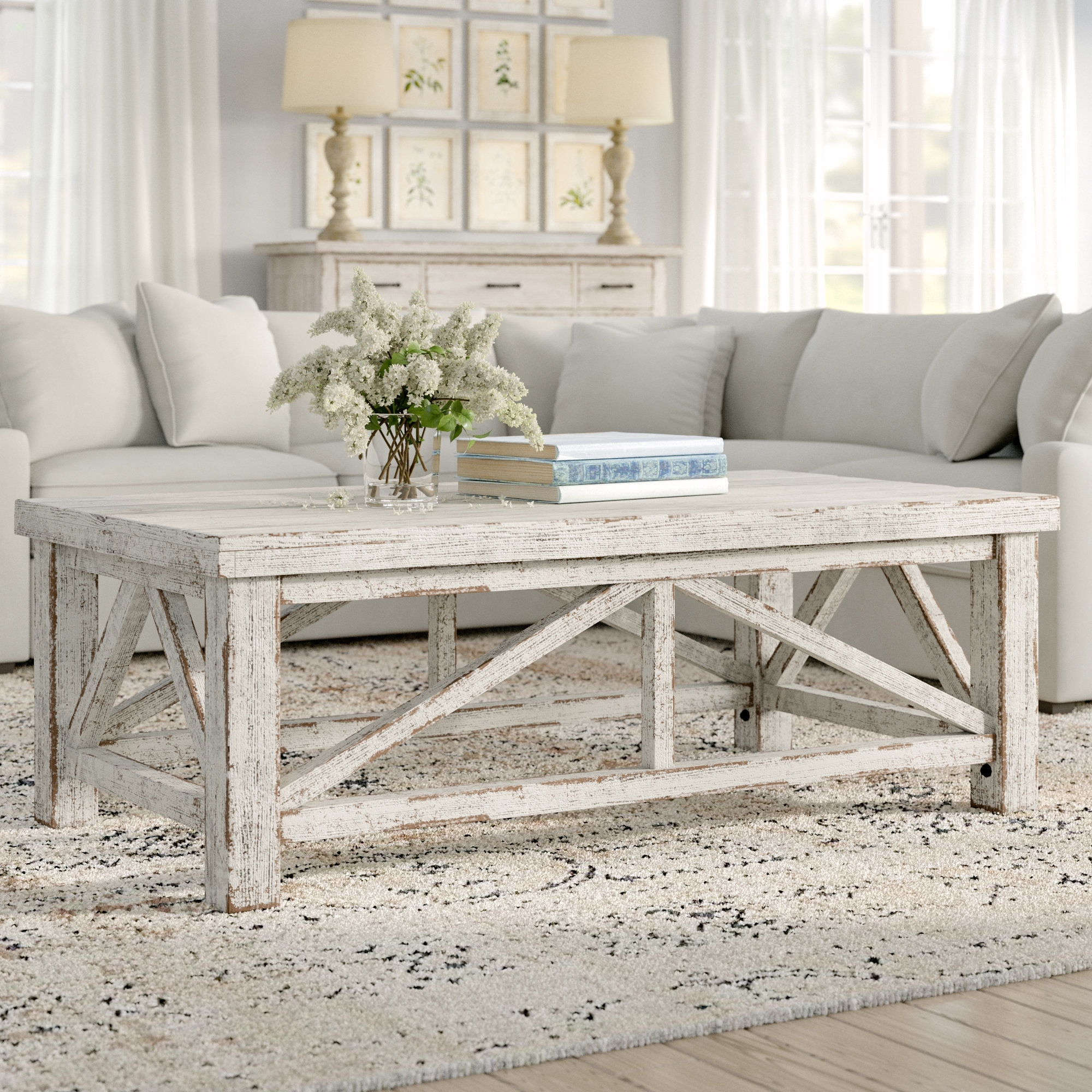 Recent Stack Hi Gloss Wood Coffee Tables In Lark Manor Pamphile Coffee Table & Reviews (View 13 of 20)