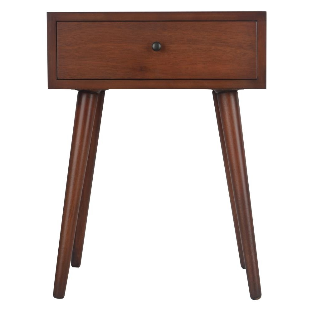 Recent Walnut Finish 6 Drawer Coffee Tables Pertaining To Decor Therapy Mid Century Walnut 1 Drawer End Table Fr6322 – The (View 7 of 20)