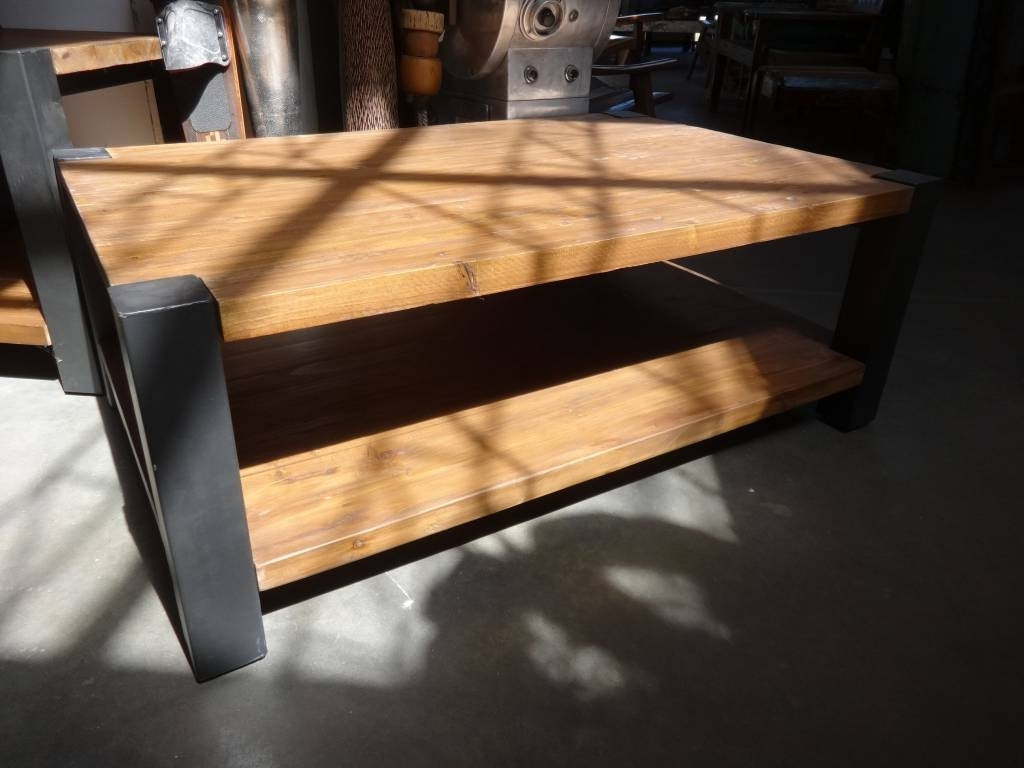 Reclaimed Pine And Iron Coffee Table – Sarasota Architectural Throughout Most Recently Released Reclaimed Pine & Iron Coffee Tables (View 4 of 20)