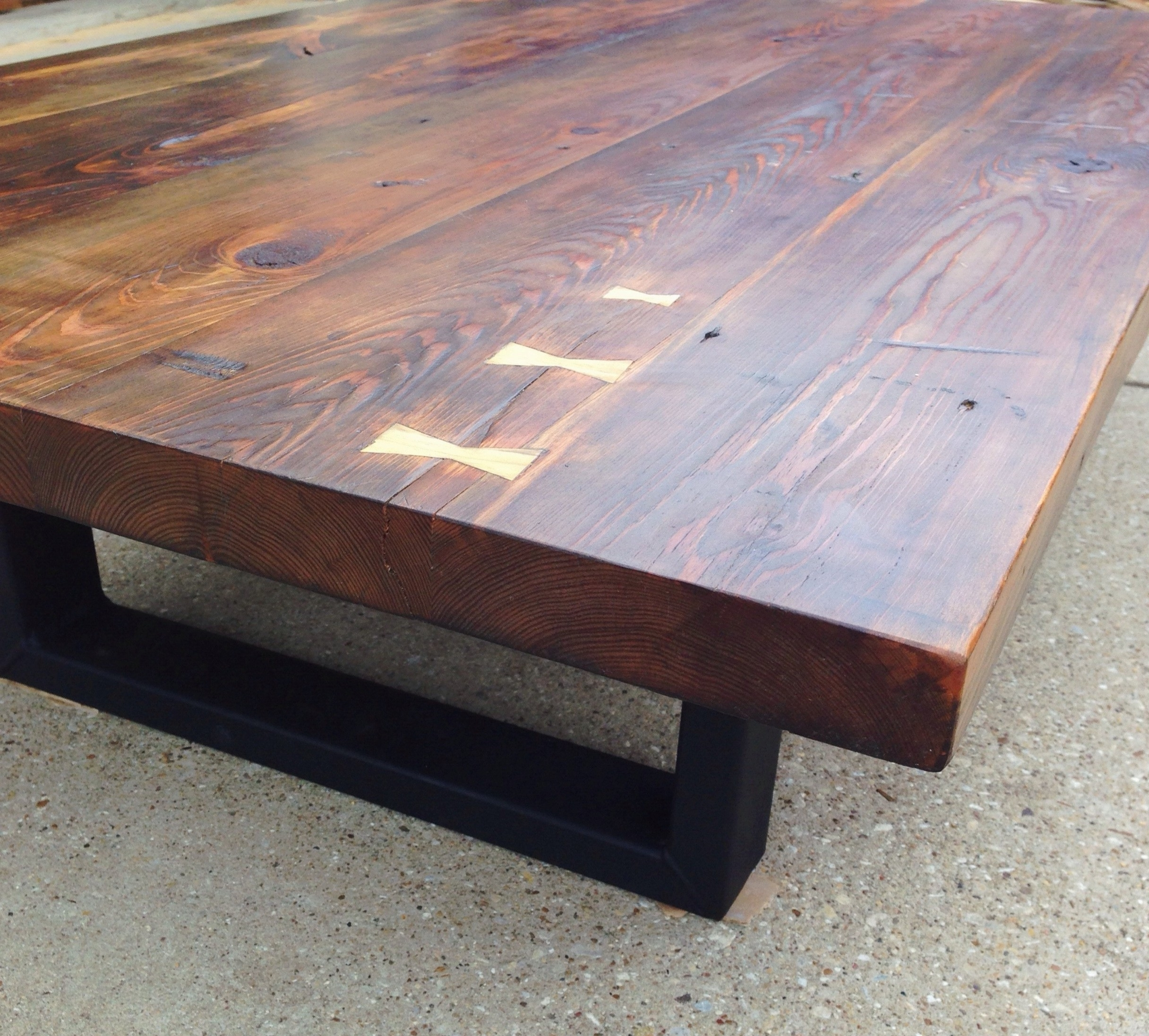 Reclaimed Southern Yellow Pine Coffee Table (View 6 of 20)
