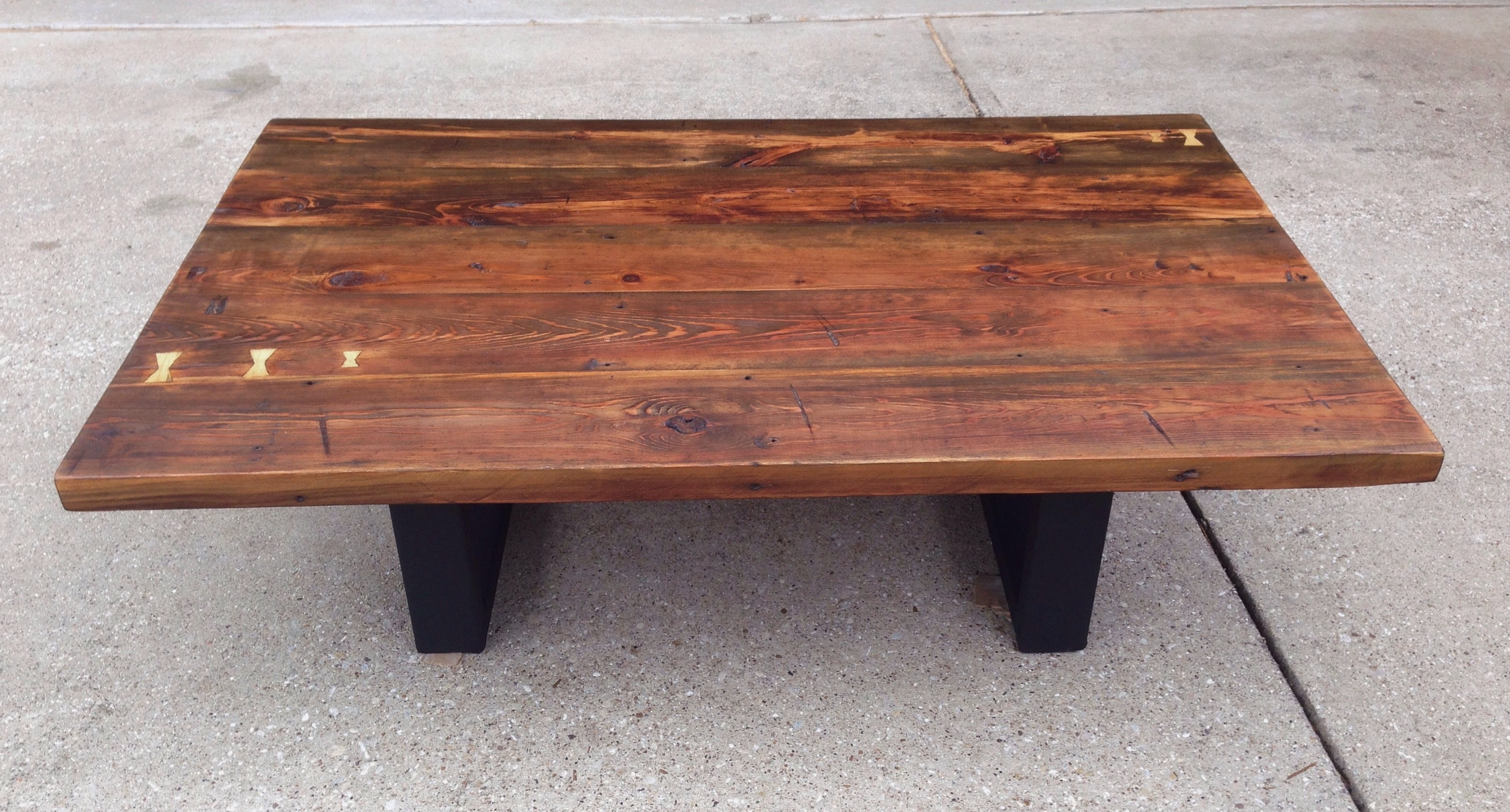Reclaimed Southern Yellow Pine Coffee Table (View 5 of 20)