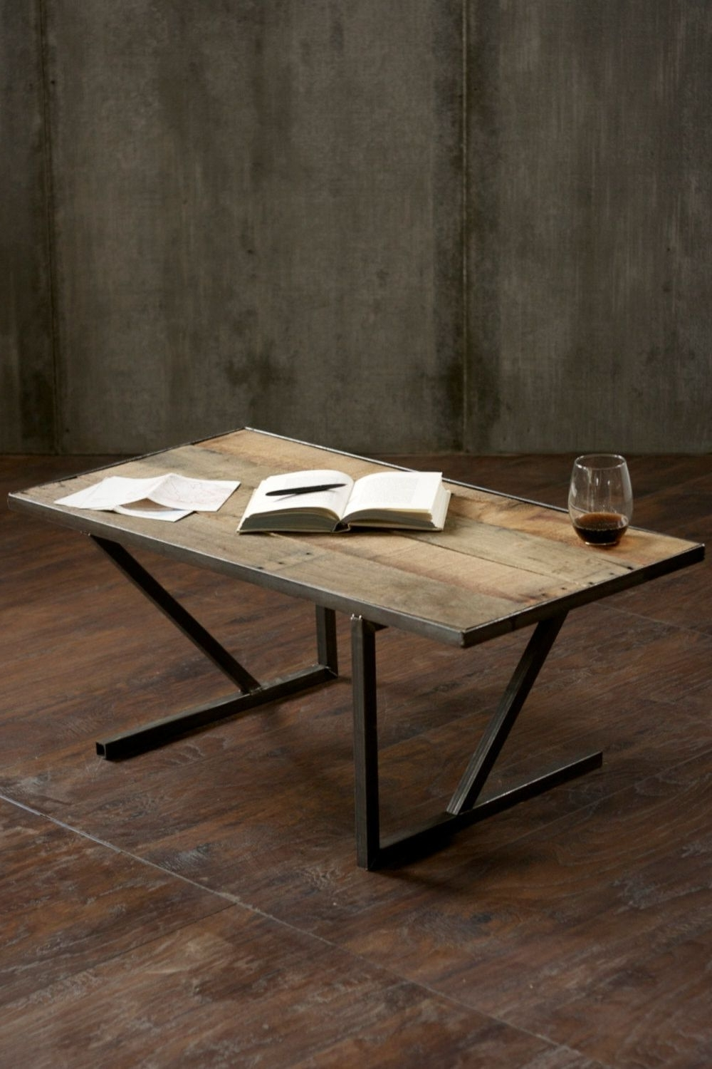 Reclaimed Wood Coffee Made From #reclaimed #rustic Pallet Wood And Within Most Popular Mill Large Coffee Tables (View 5 of 20)