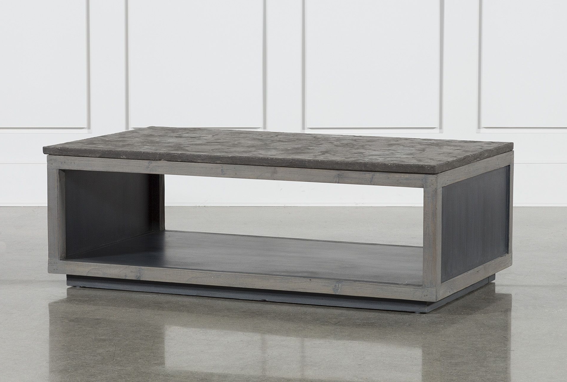 Recycled Pine Stone Coffee Table, Brown (View 13 of 20)