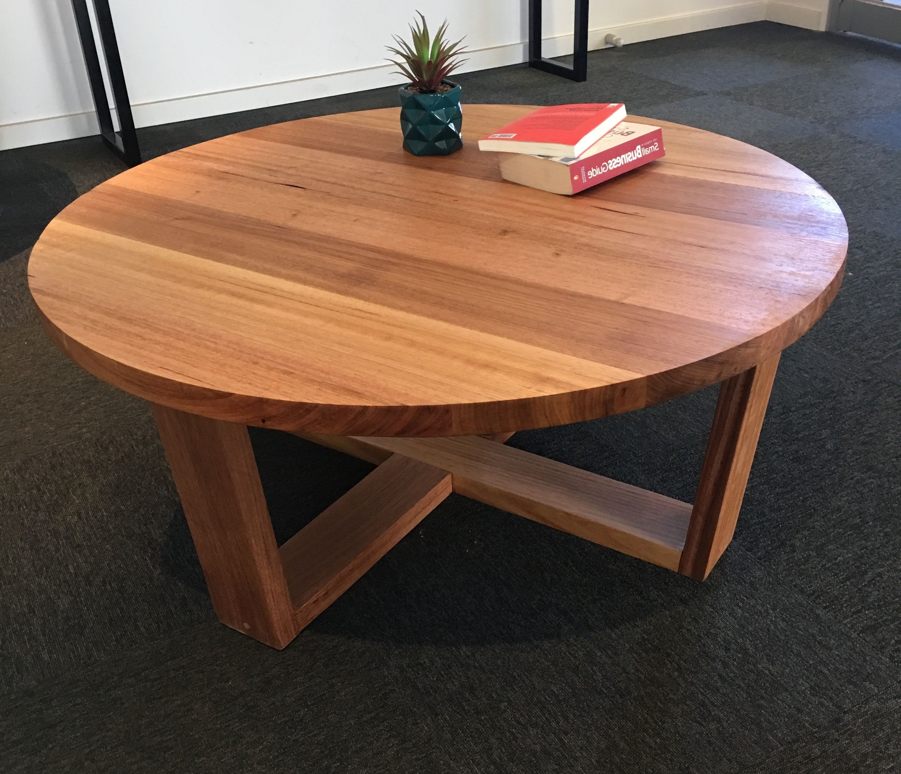 Recycled Tasmanian Oak Round Coffee Table (View 13 of 20)