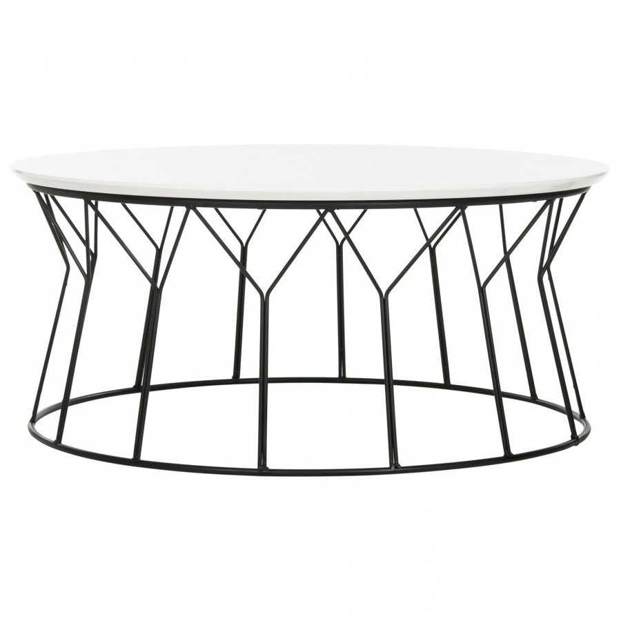 Retro Wire Coffee Table  White Laquer Top ~ Eclectic Goods With Regard To Most Popular Black Wire Coffee Tables (View 13 of 20)